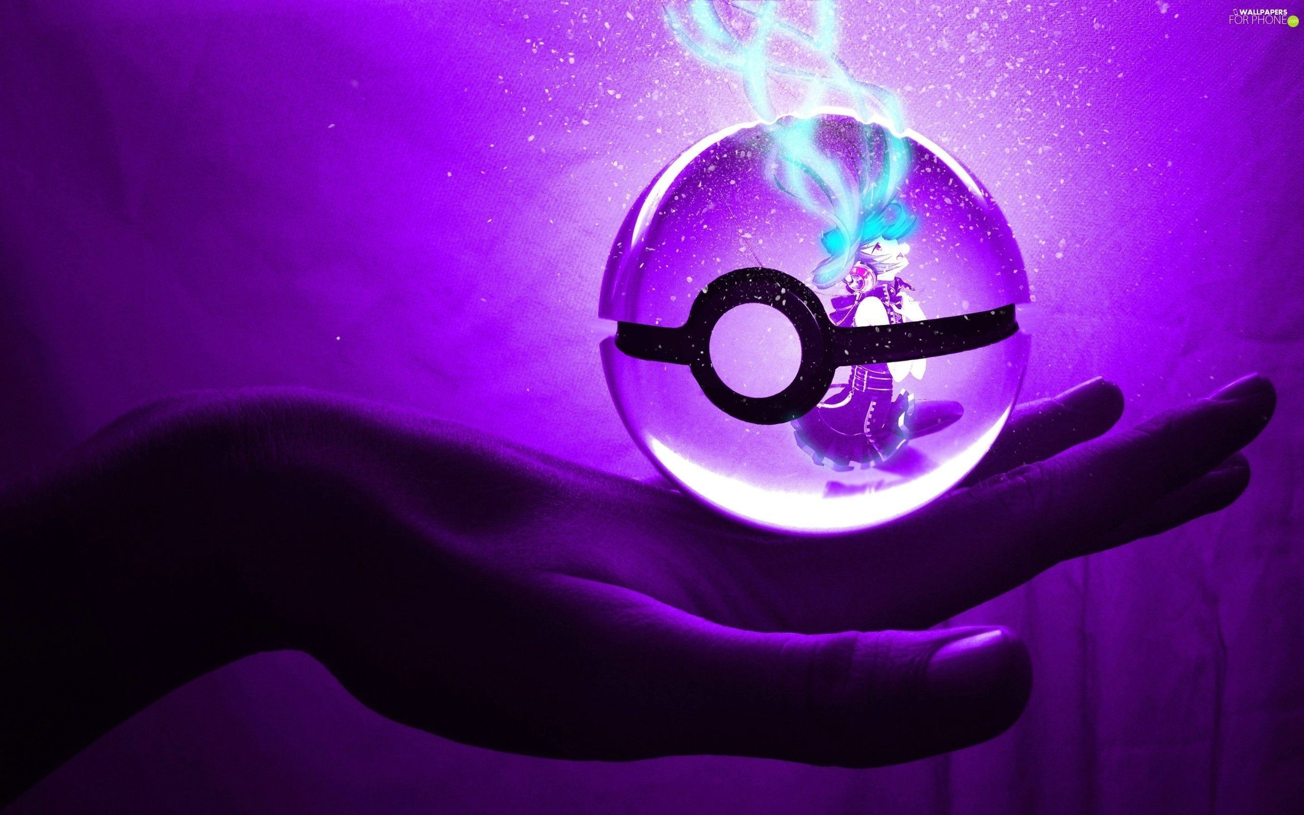 Res: 2560x1600, 3D, purple, Orb, Pokemon - For phone wallpapers: