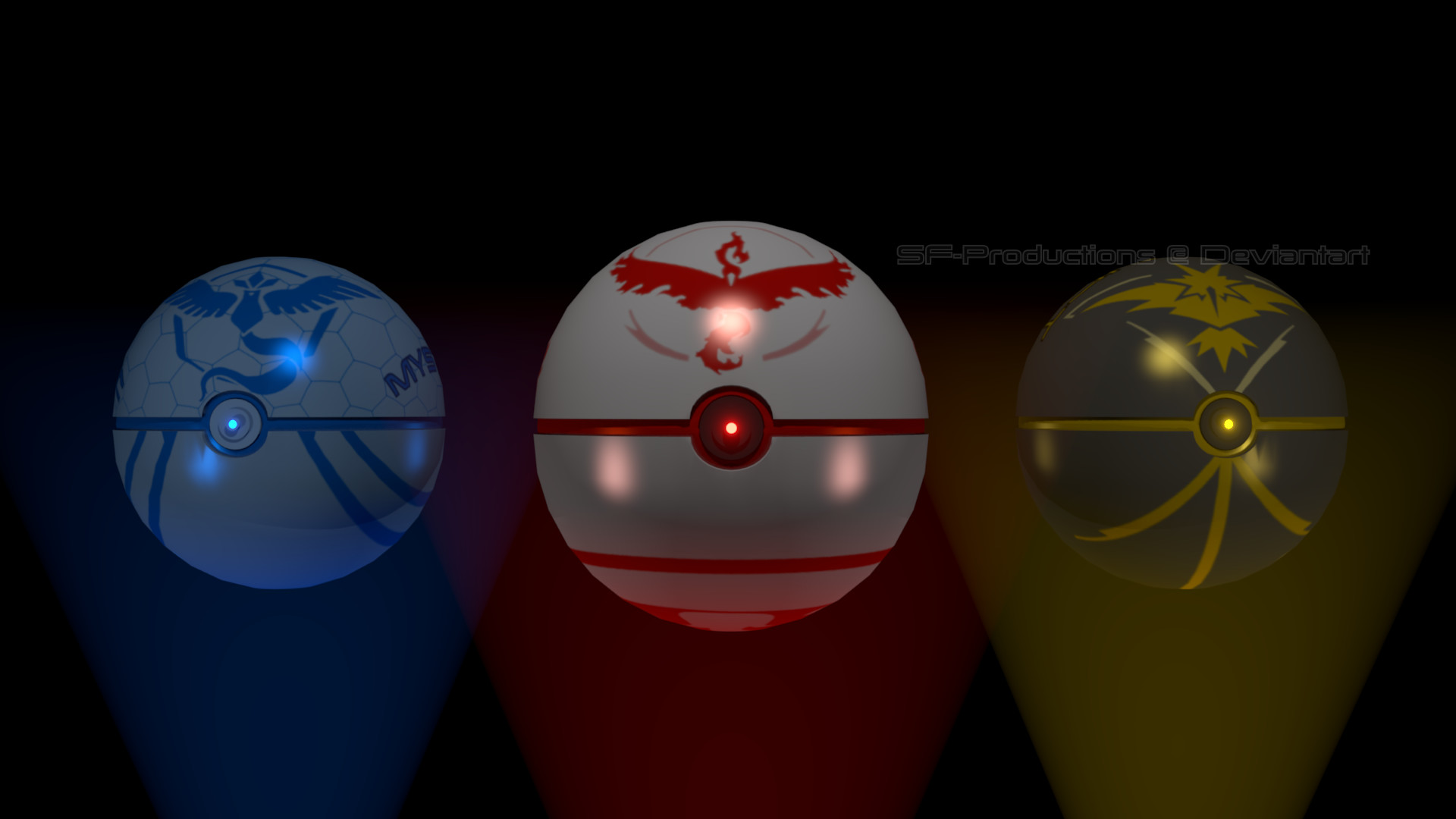 Res: 1920x1080, ... Pokemon Go Team Pokeballs by SF-Productions