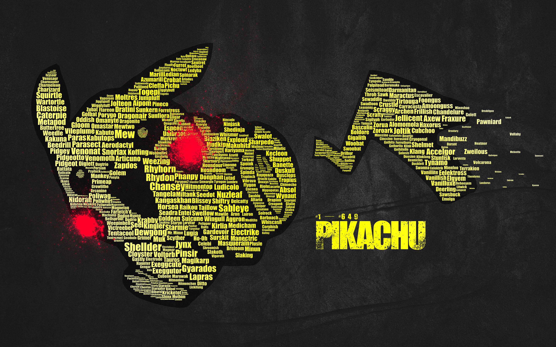 Res: 2880x1800, Pokemon Pikachu Typography text wallpaper |  | 45557 | WallpaperUP