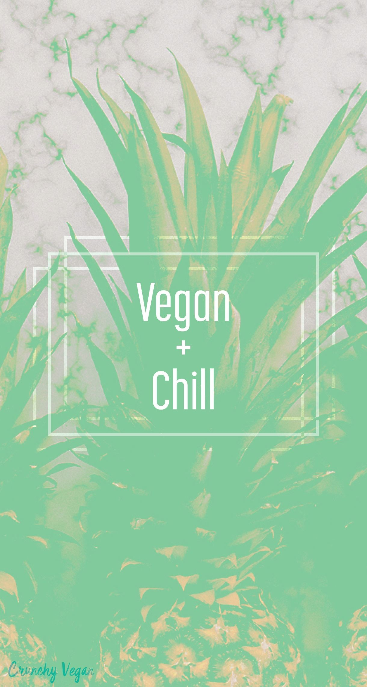 Res: 1220x2283, vegan and chill phone wallpaper from Crunchy Vegan