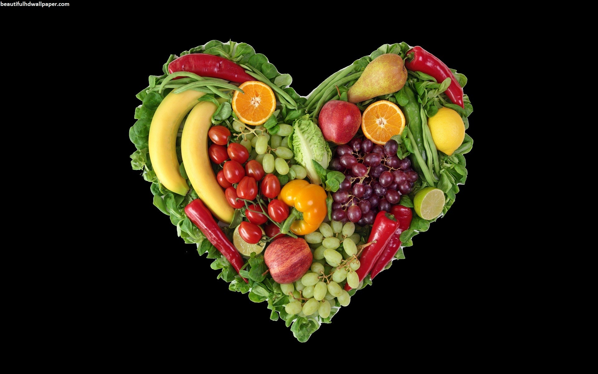 Res: 1920x1200, Image: Fruit & Vegetable Heart wallpapers and stock photos. Â«