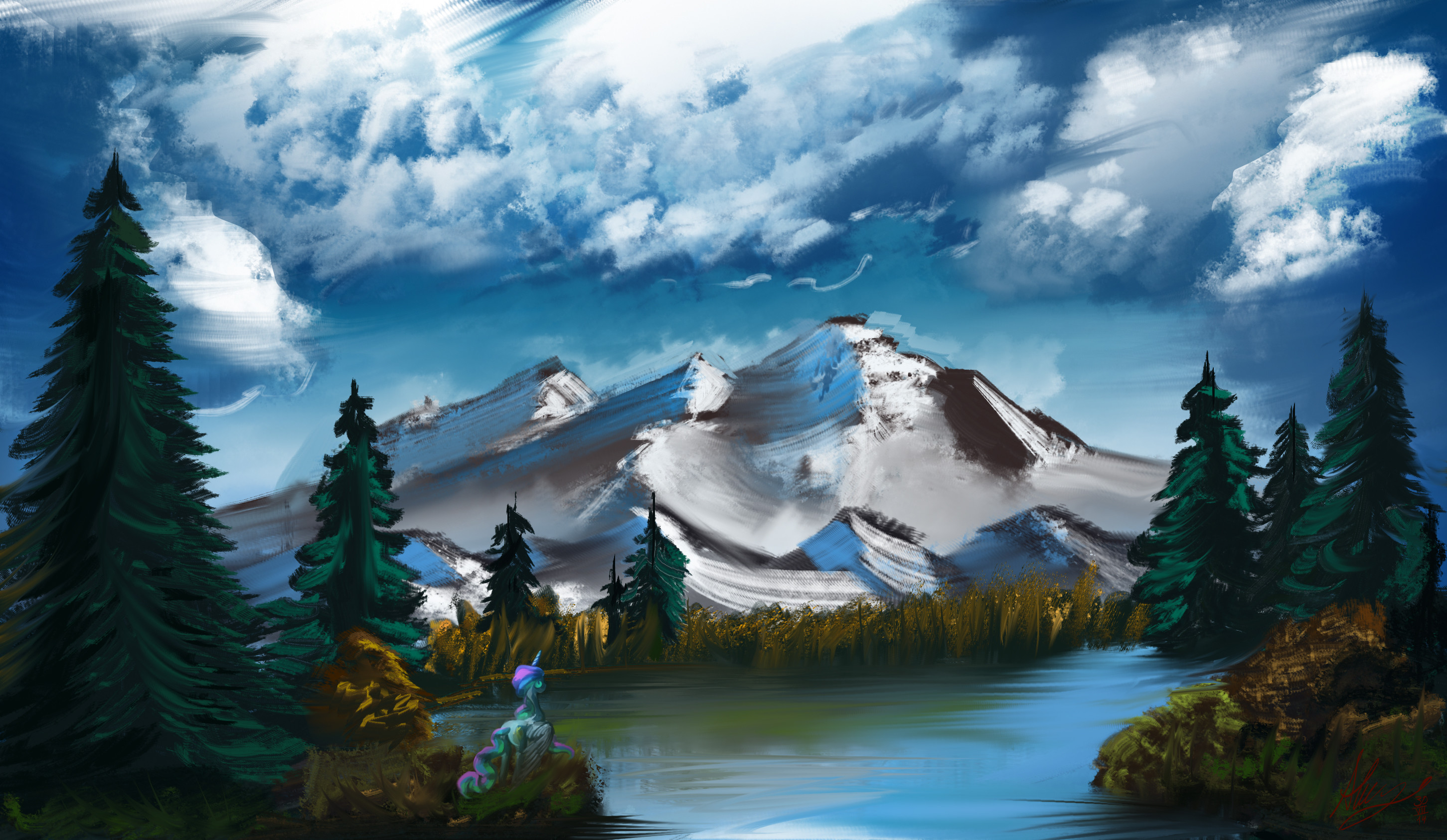 Res: 2903x1686, ... Bob Ross Challenge - Episode 2 by Alumx