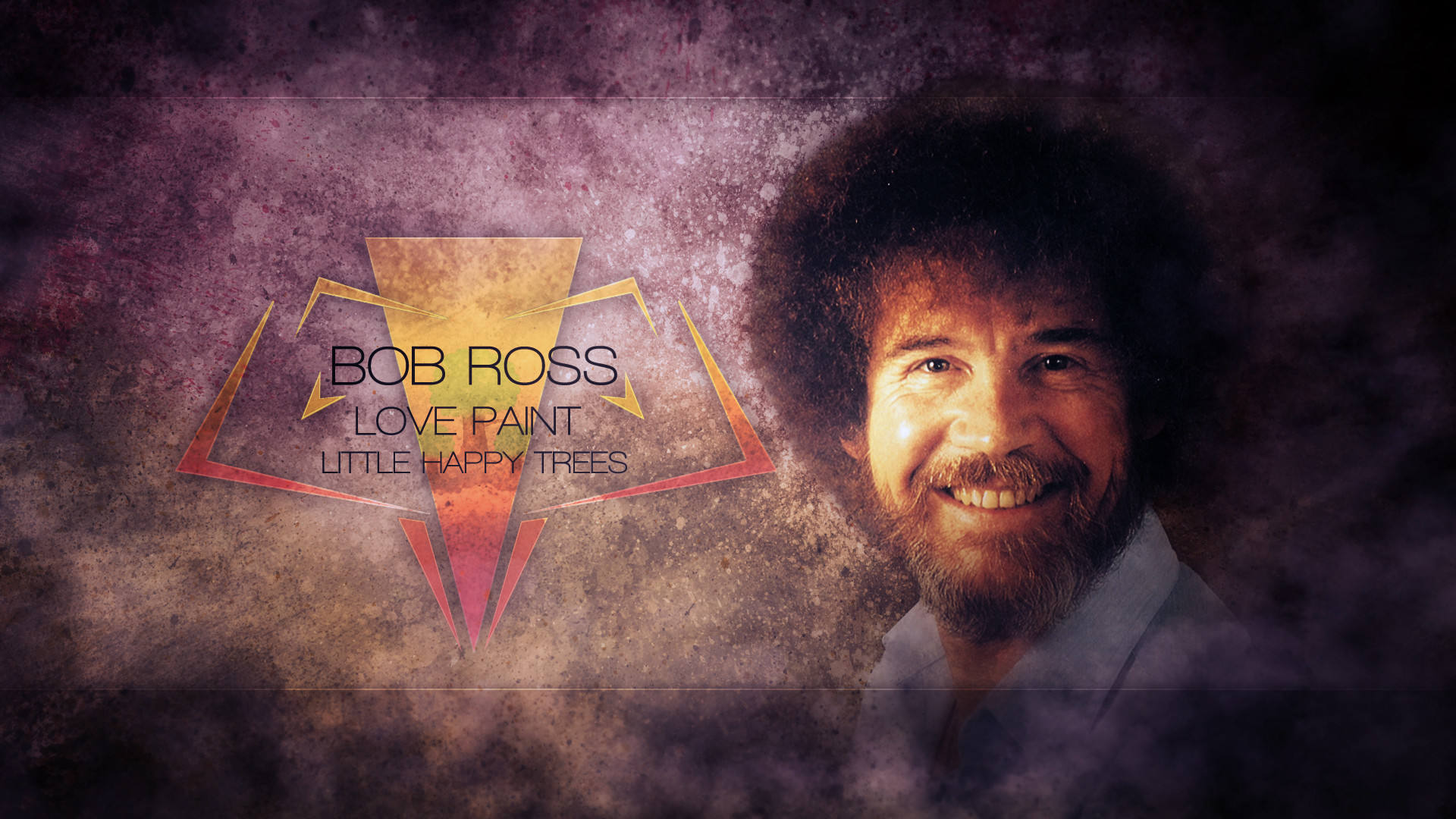 Res: 1920x1080, BOB ROSS LOVE PAINT Bob Ross facial hair beard darkness atmosphere  phenomenon