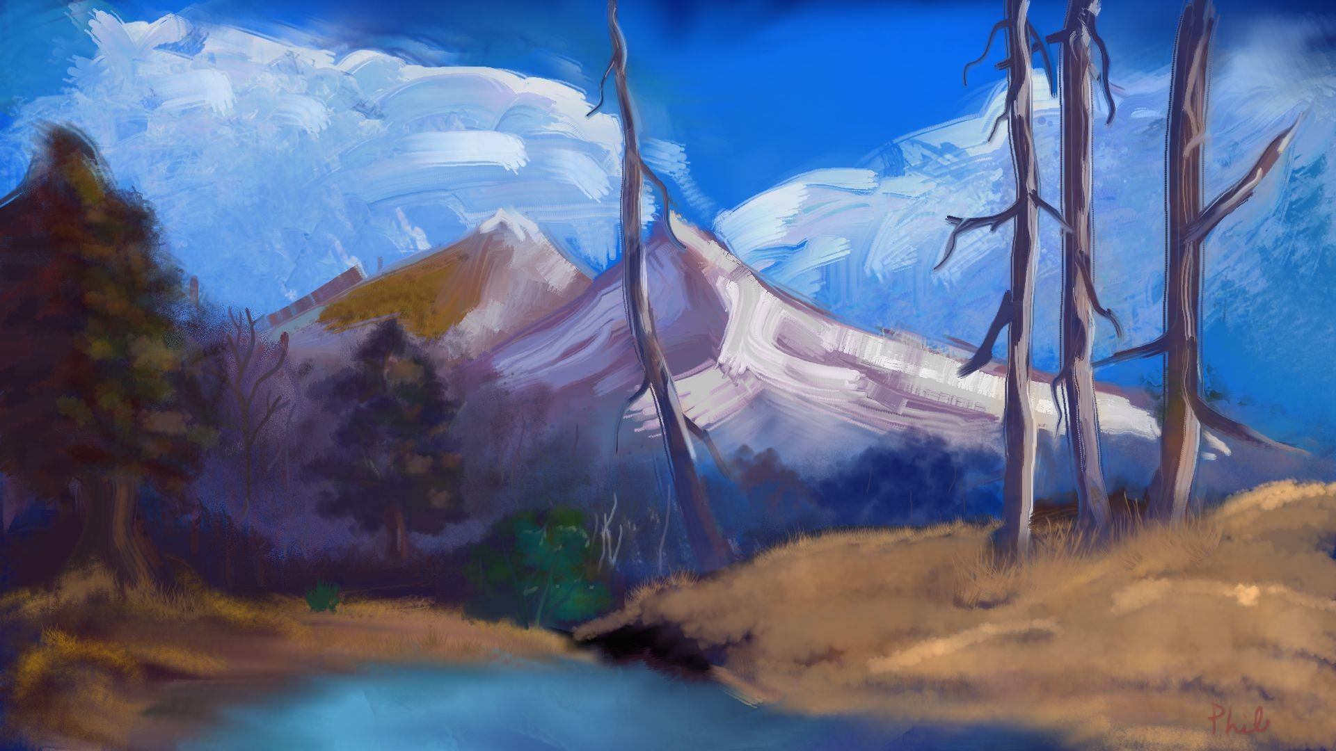 Res: 1920x1080, Painting with Bob Ross Finished