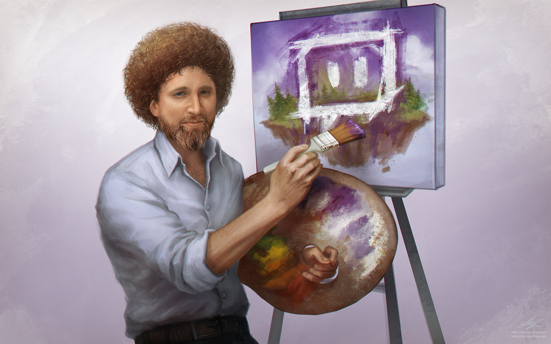 Res: 1920x1200, ... Kappa - Bob Ross Portrait by sohlol
