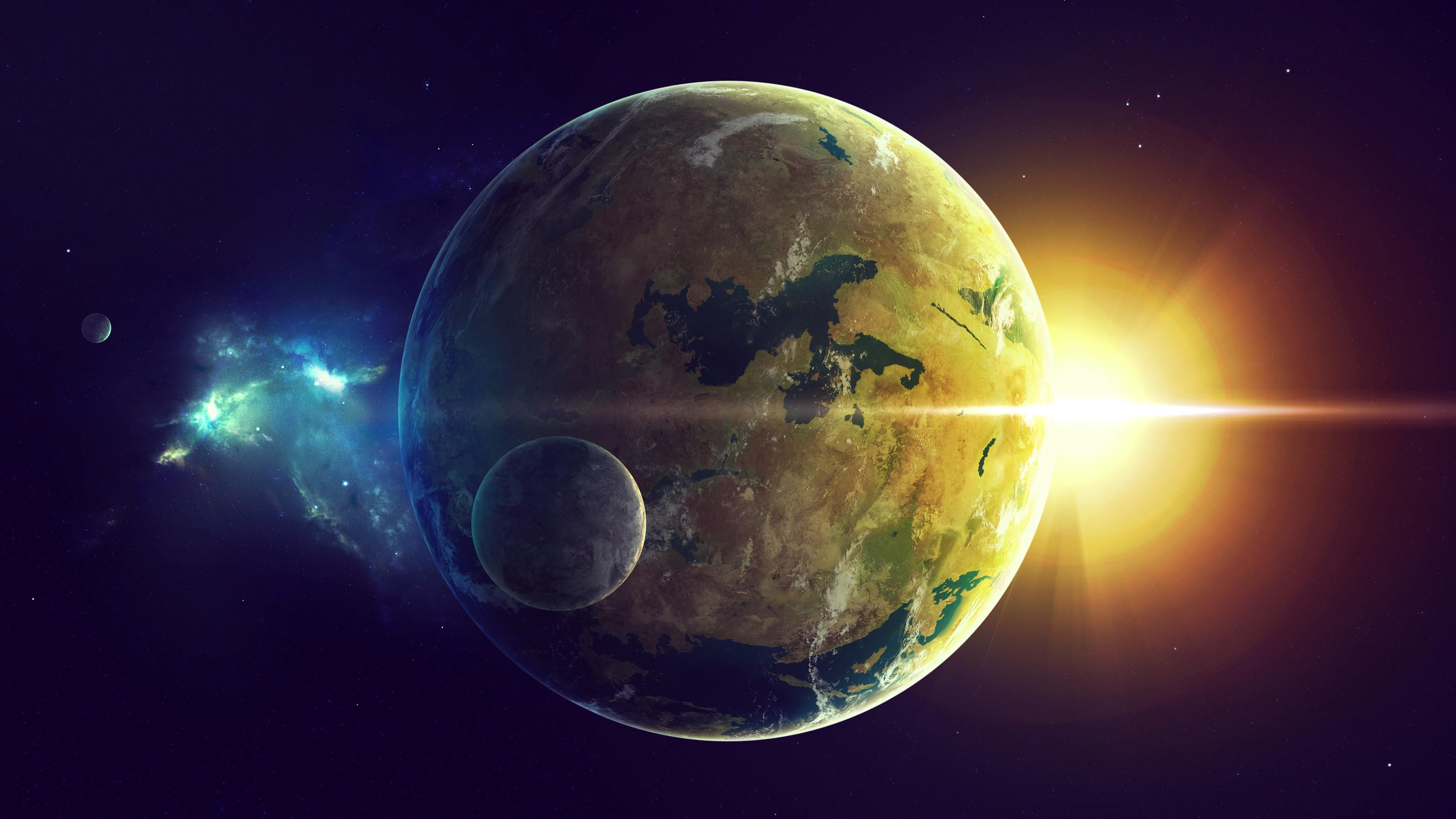 Res: 3200x1800, Science-Fiction - Planeten Wallpaper