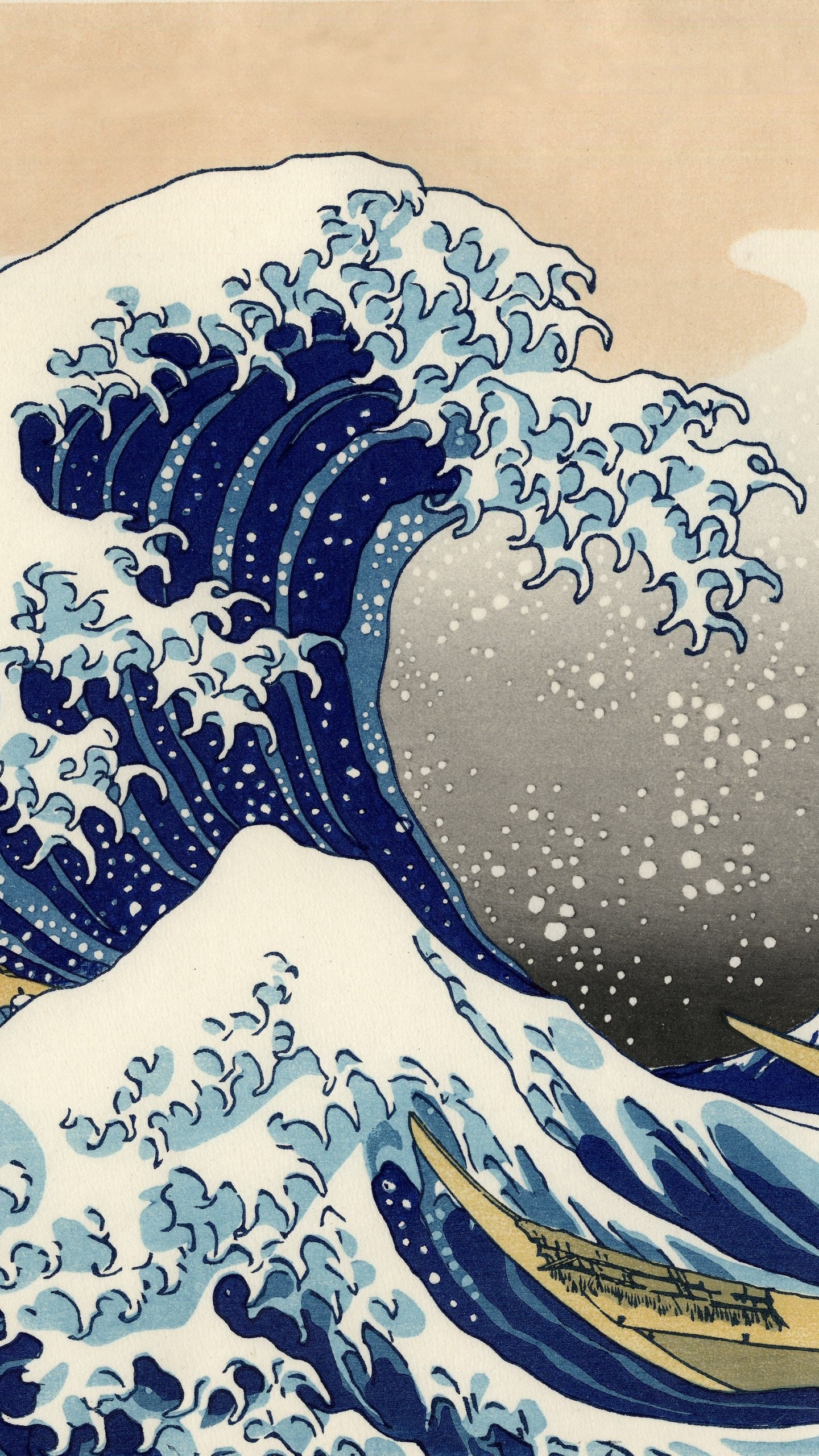 Res: 1440x2560, Artistic / The Great Wave Off Kanagawa () Mobile Wallpaper