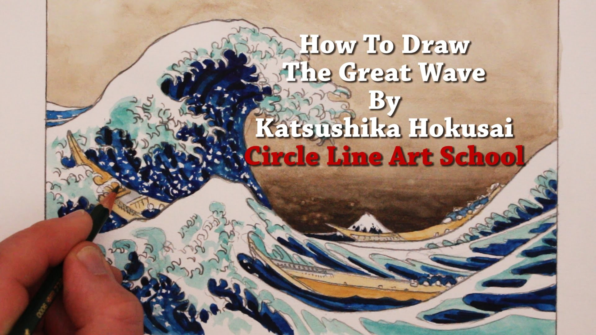 Res: 1920x1080,  How to Draw The Great Wave by Hokusai