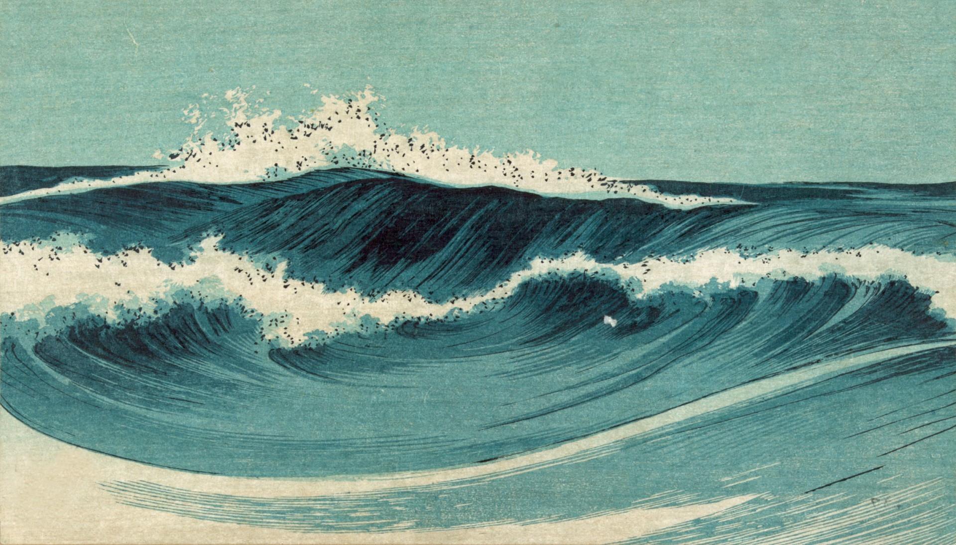 Res: 1920x1095, japanese wave art wallpaper #393882