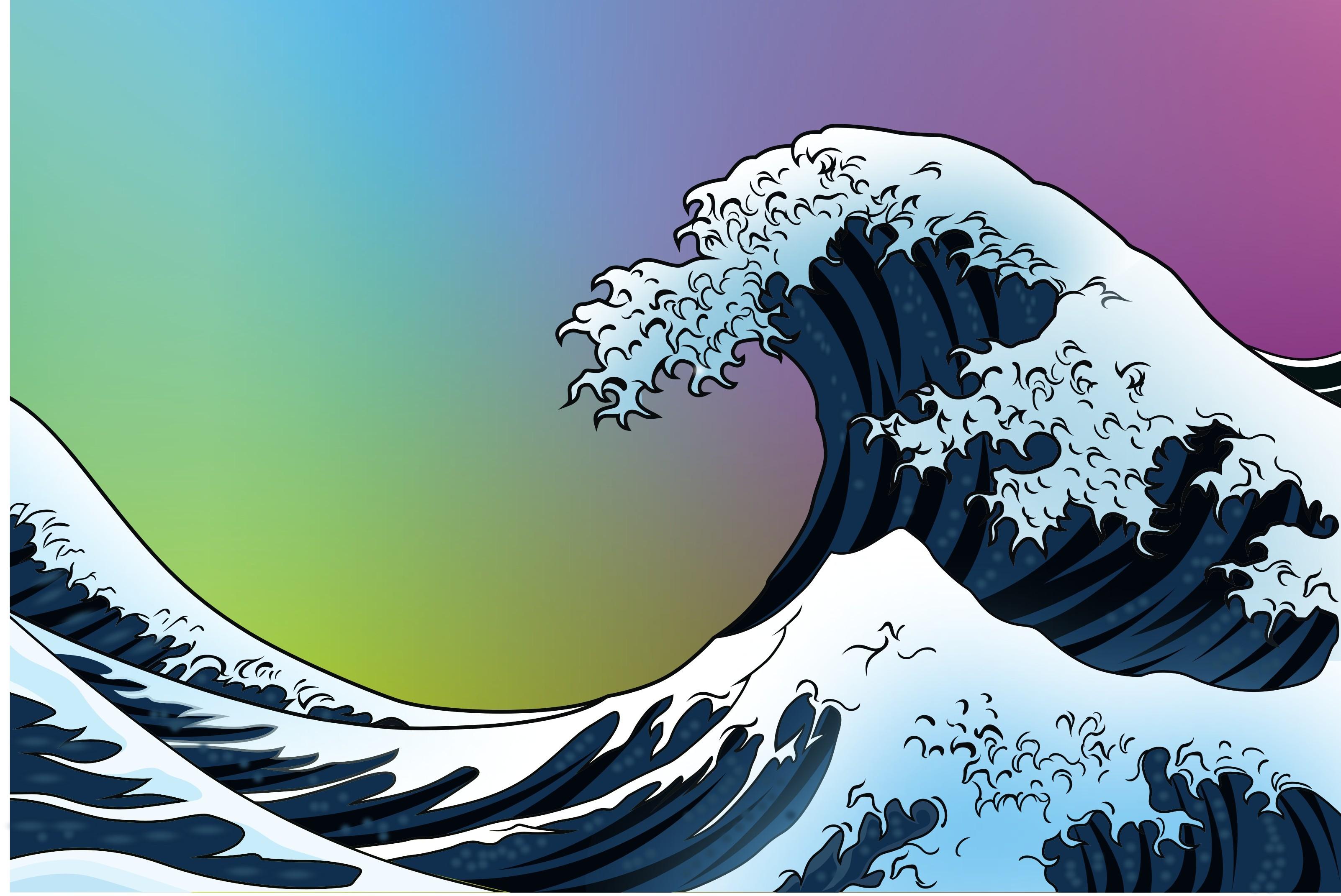 Res: 3204x2142, The Great Wave Off Kanagawa Wallpaper Beautiful Japanese Wave Still Life  Vector My Artworks