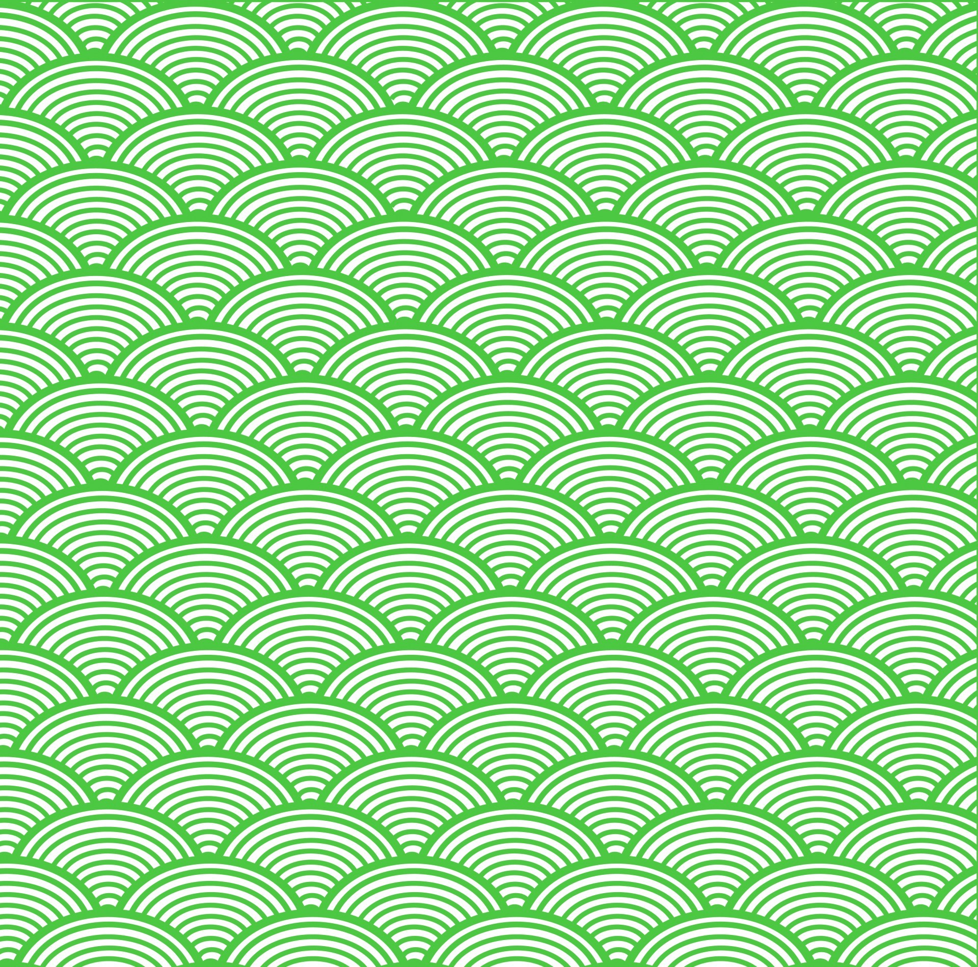 Res: 1920x1899, Japanese Wave Wallpaper Green