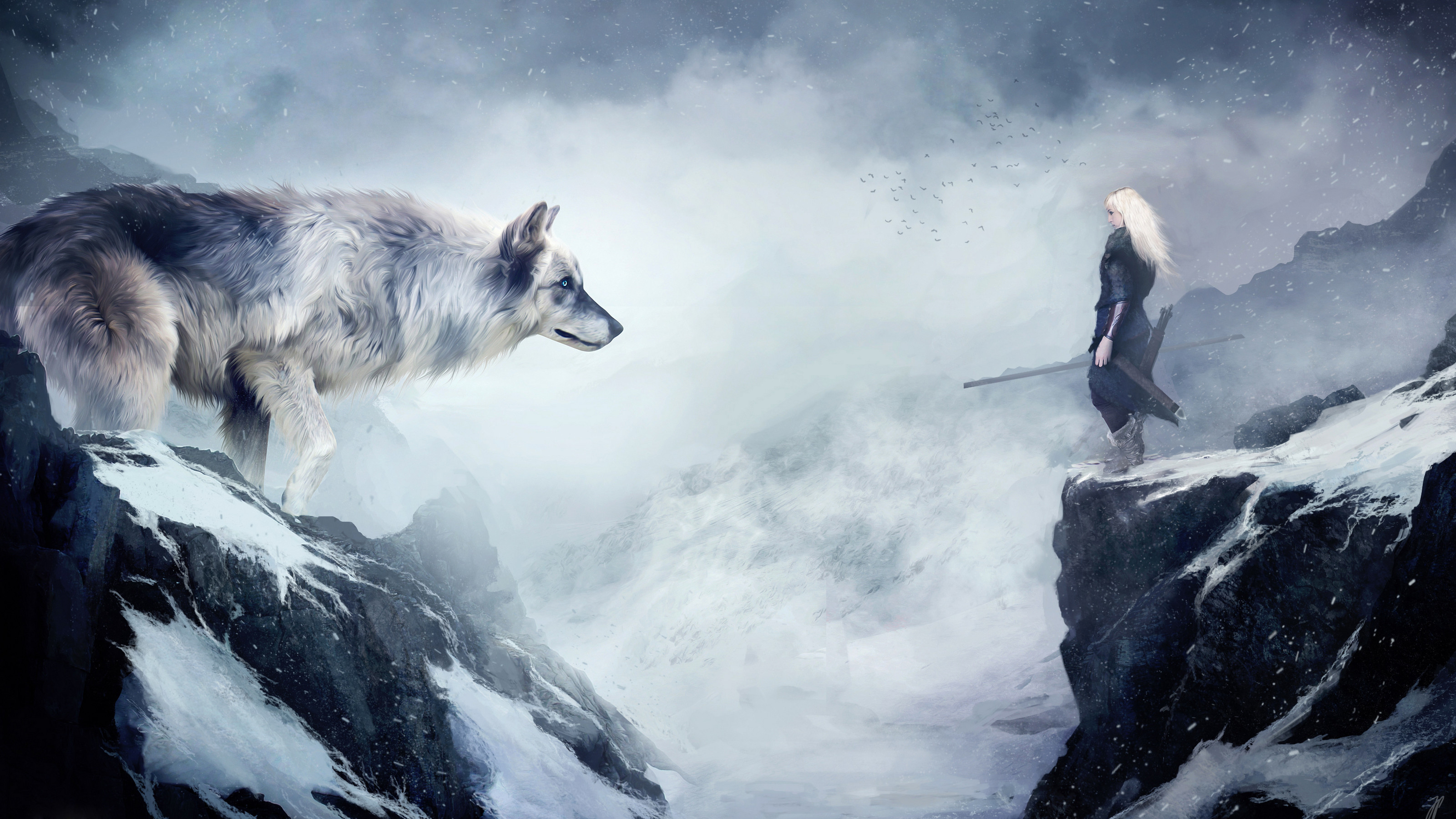 Res: 3200x1800,  Epic Fantasy Music - The Wolf and the Moon