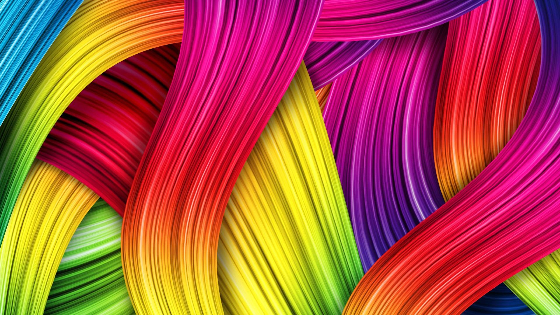 Res: 1920x1080, 3D Cool Colorful Background Wallpaper