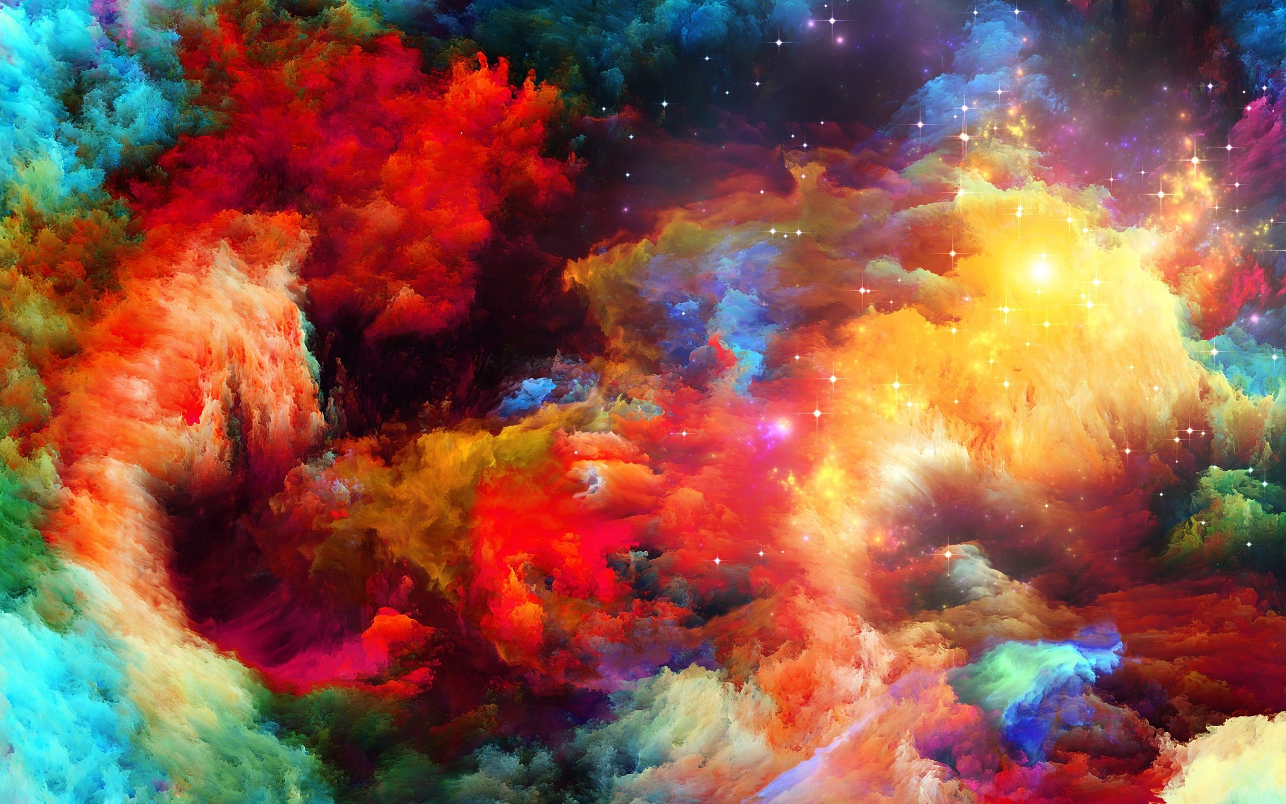 Res: 2560x1600, rainbow colors background wallpaper