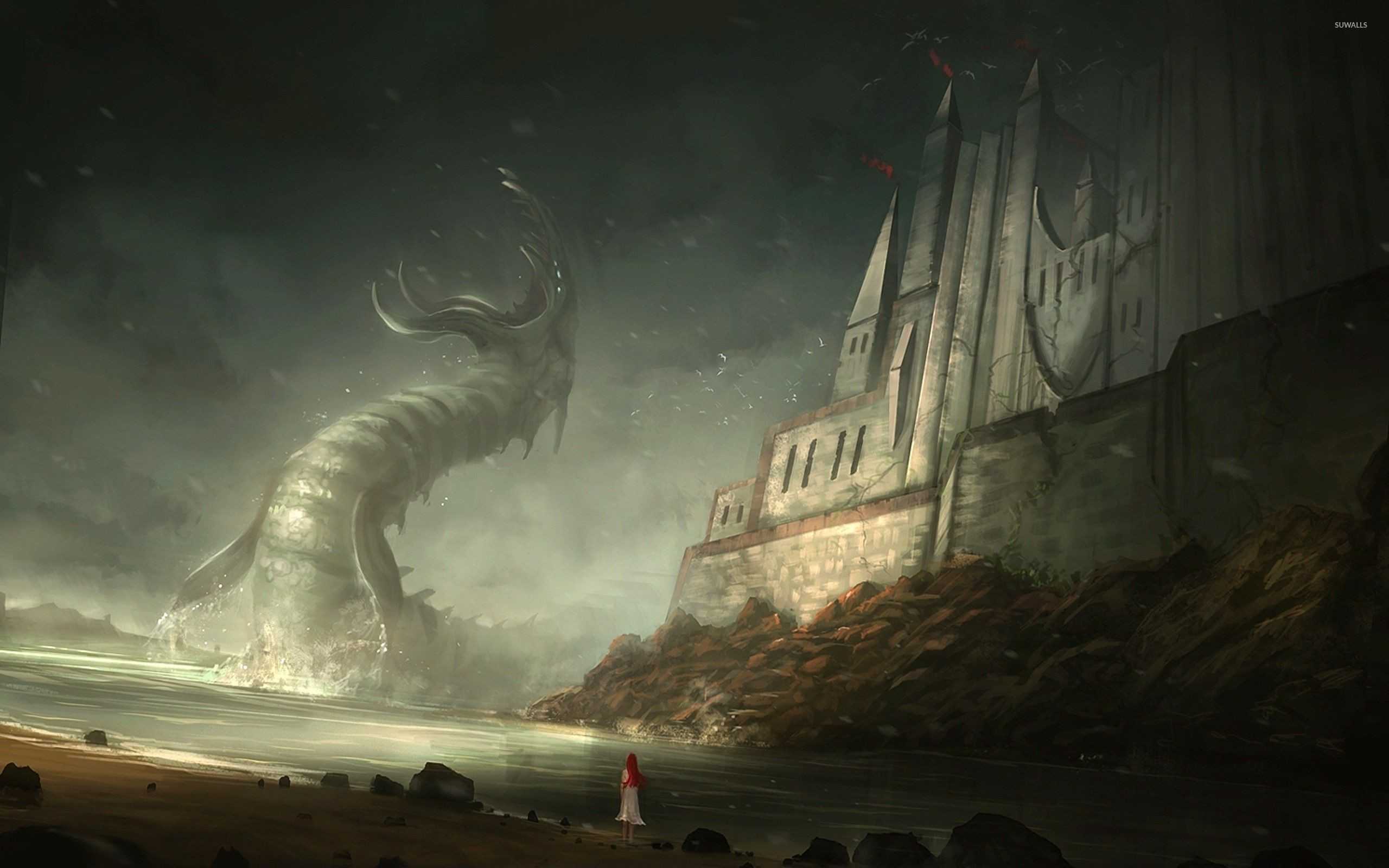 Res: 2560x1600, wallpaper.wiki-Cthulhu-HD-Backgrounds-PIC-WPE005263 2693x1684