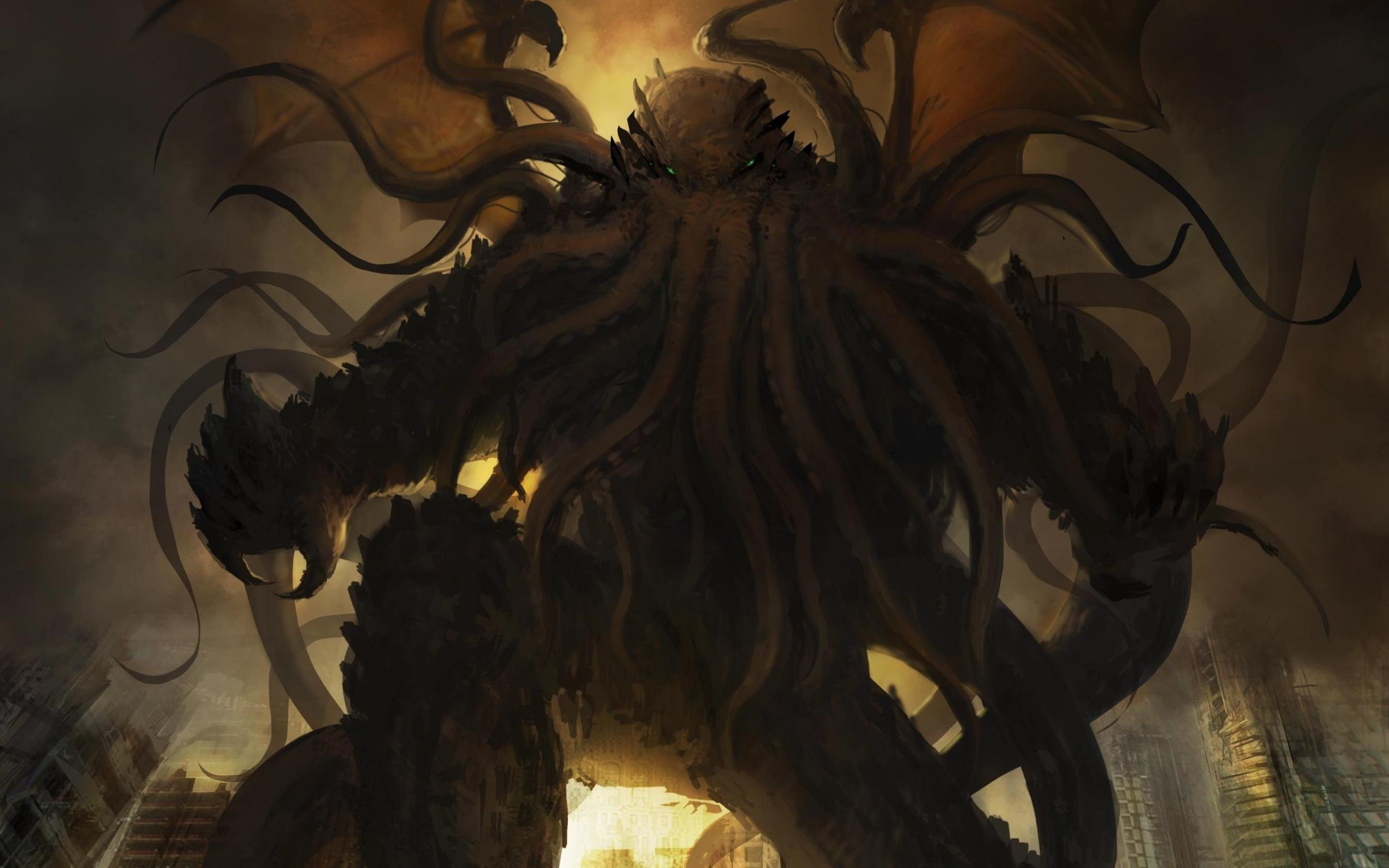 Res: 2500x1563, Cthulhu Wallpaper by Isabelle Mohn, Wallpapers and Pictures |Full HD for  mobile and desktop