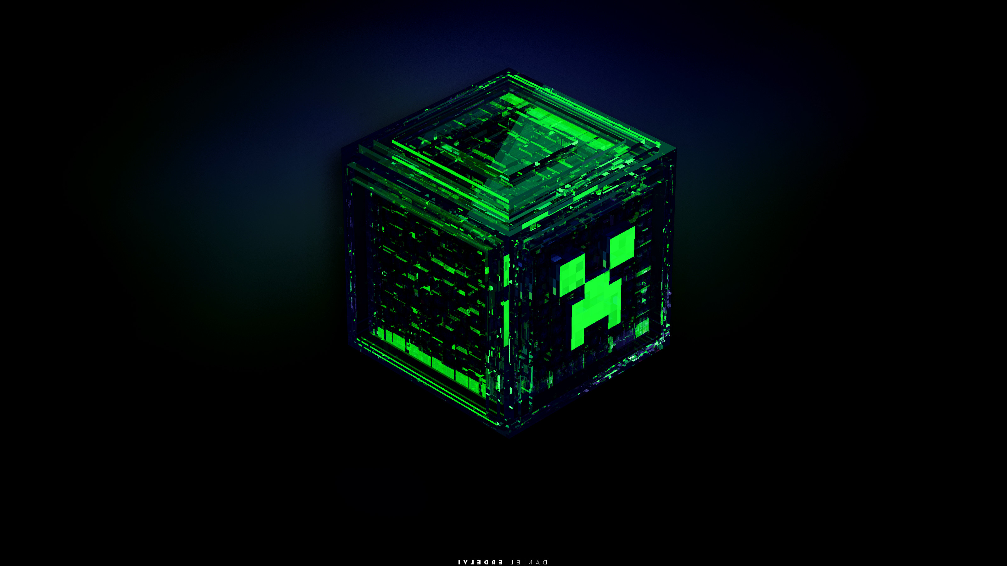 Res: 3200x1800, Wallpaperspoints: Minecraft Creeper Background Wallpaper | Full HD .
