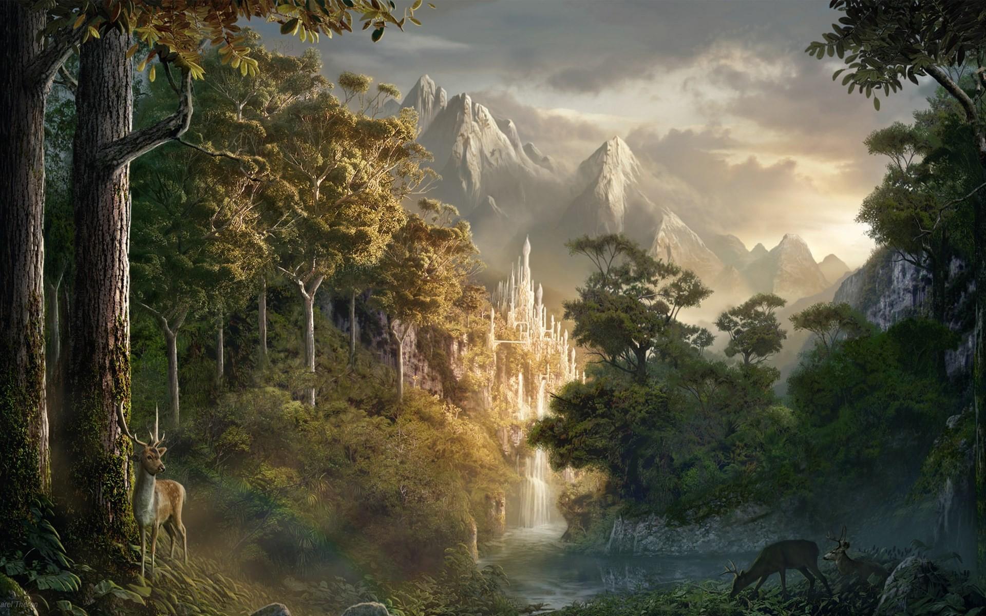 Res: 1920x1200, fantasy art landscape wallpaper | Fantasy Landscapes Wallpapers, Art Print,  Poster