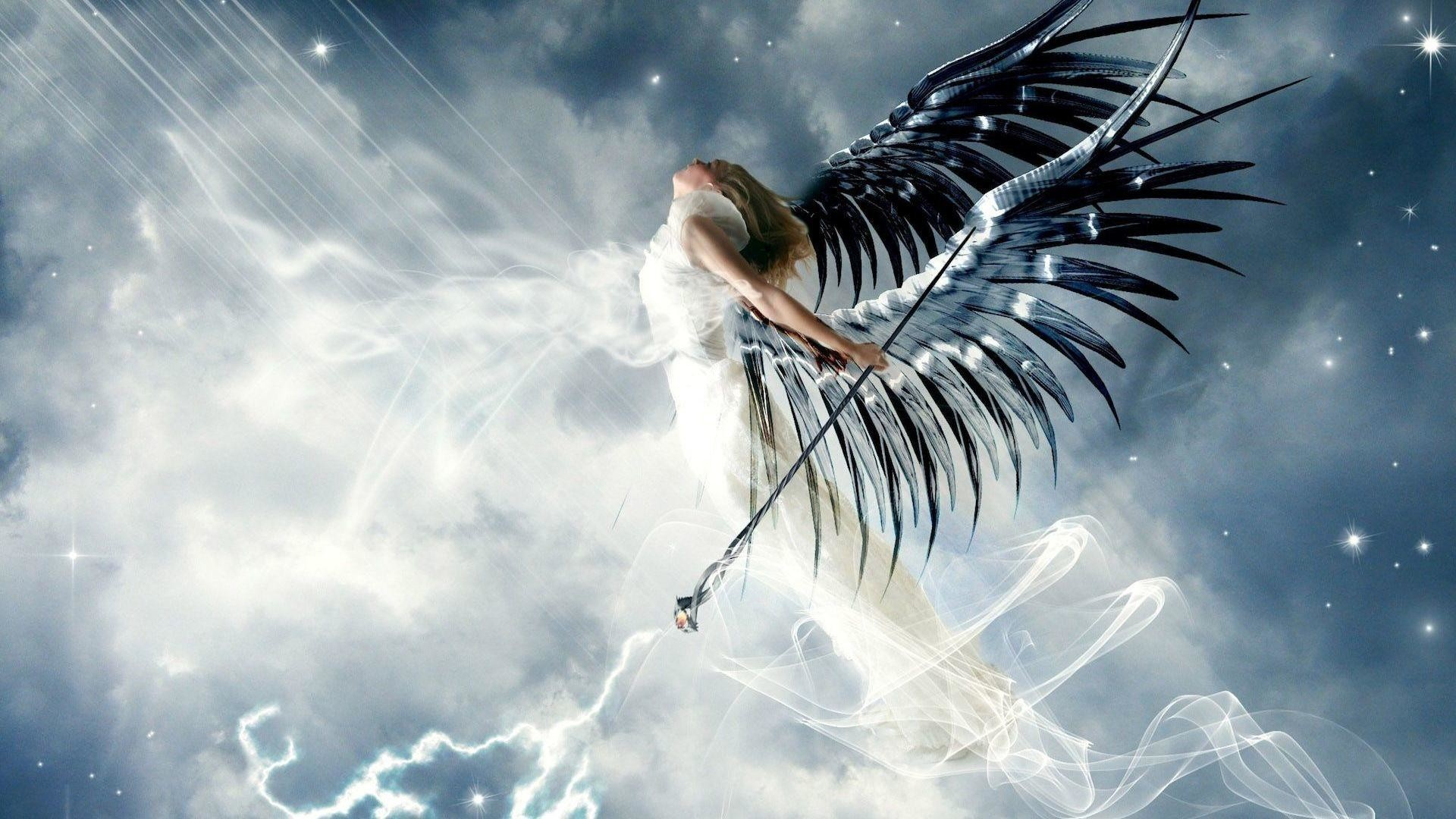 Res: 1920x1080, White Angel - Fantasy Art Wallpaper | Wallpaper Studio 10 | Tens of  thousands HD and UltraHD wallpapers for Android, Windows and Xbox