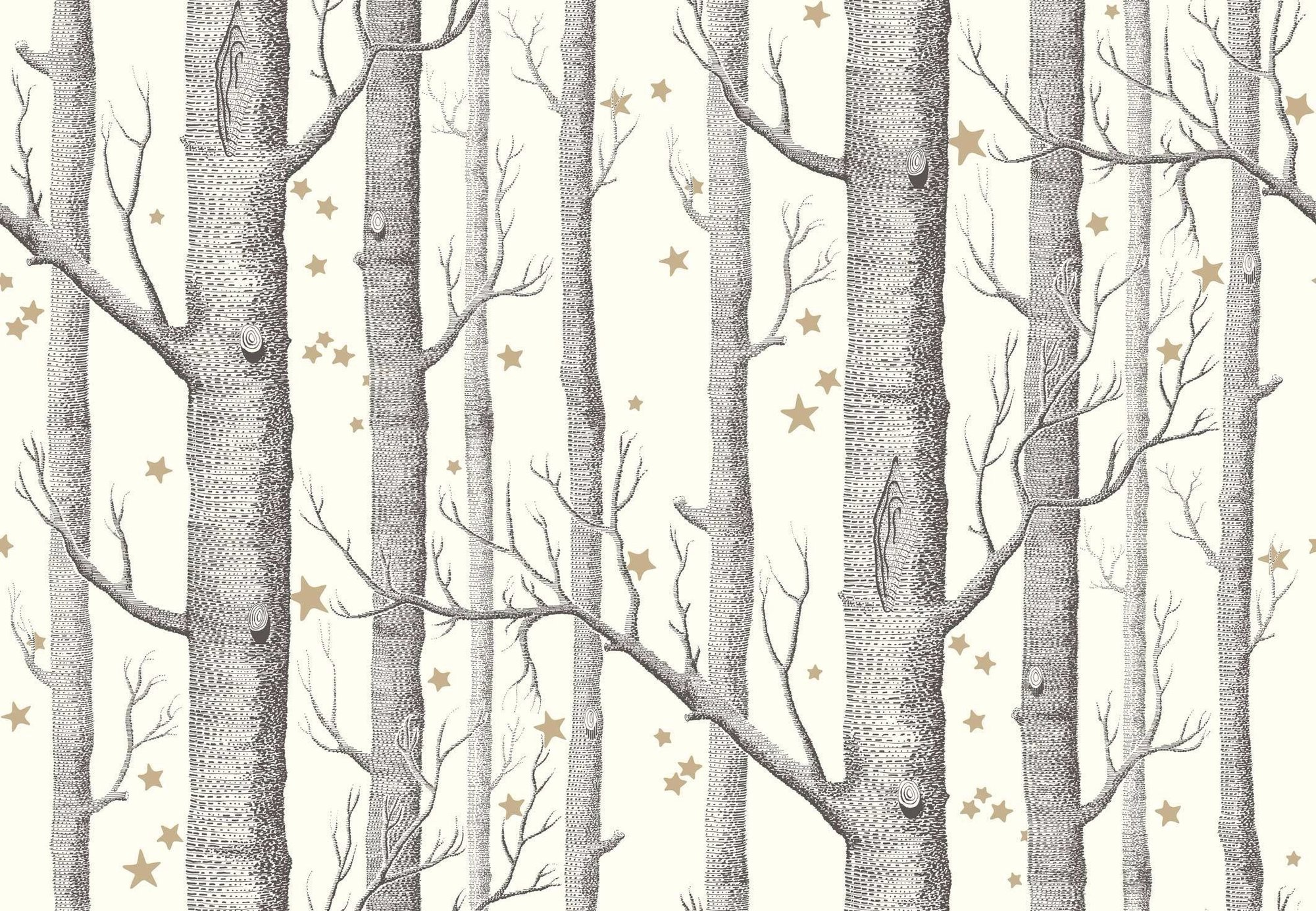 Res: 2000x1385, cole and son woods and stars wallpaper black and white, cole and son birch  tree