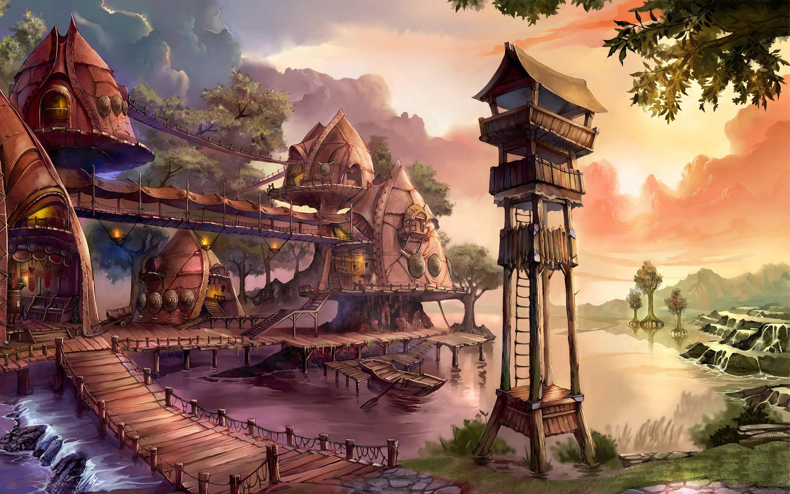Res: 2560x1600, Fantasy - Oriental Wallpaper