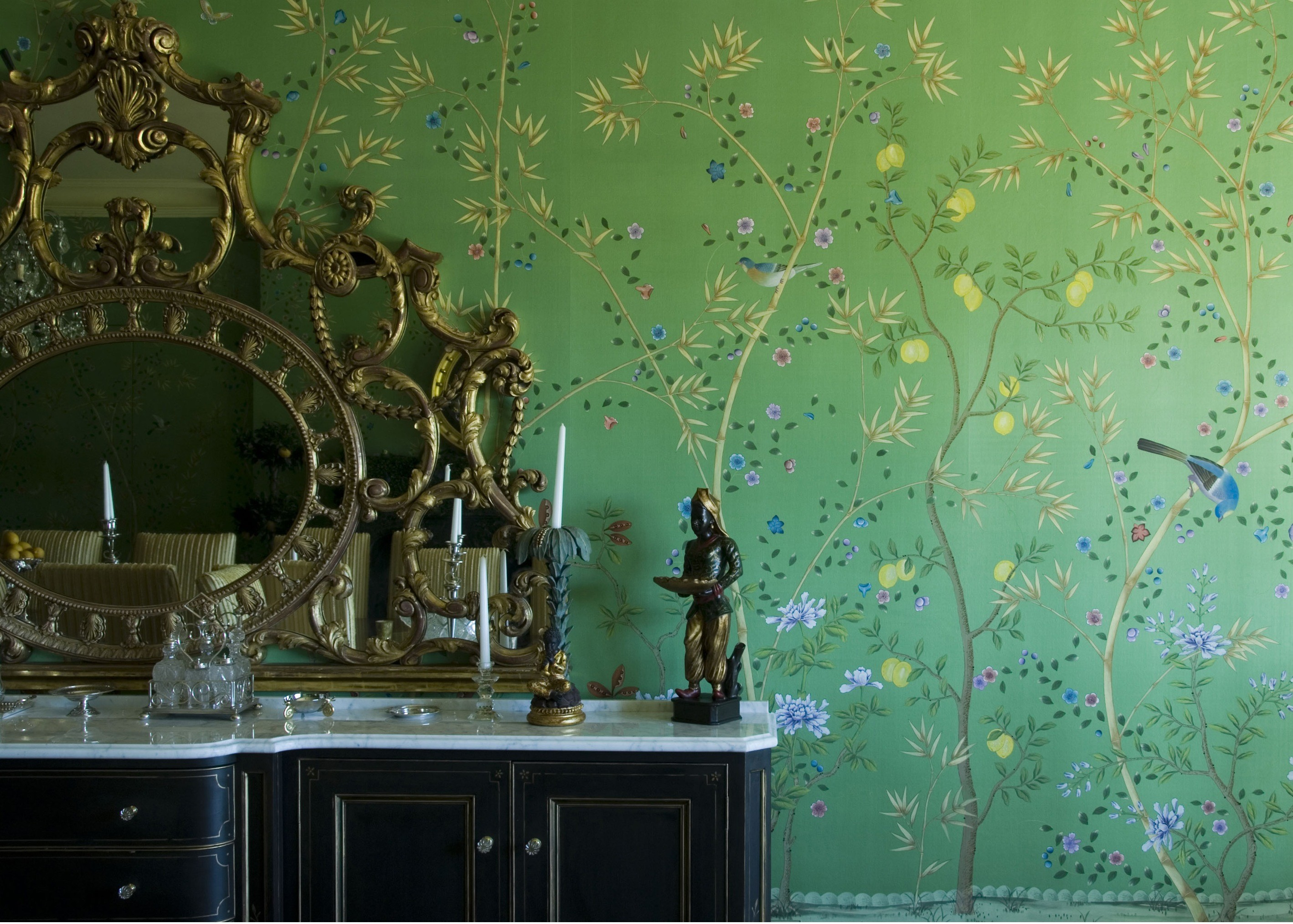 Res: 2837x2027, Chinoiserie Wallpaper Gold Hd Wallpapers Blog. Exotic Oriental Inspired  Wallpaper