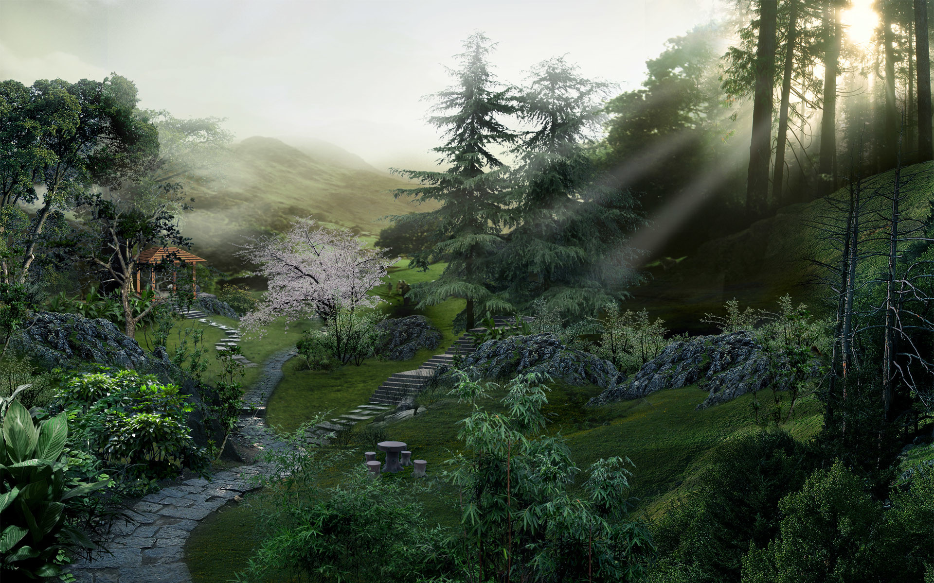 Res: 1920x1200,  Chinese forest desktop PC and Mac wallpaper