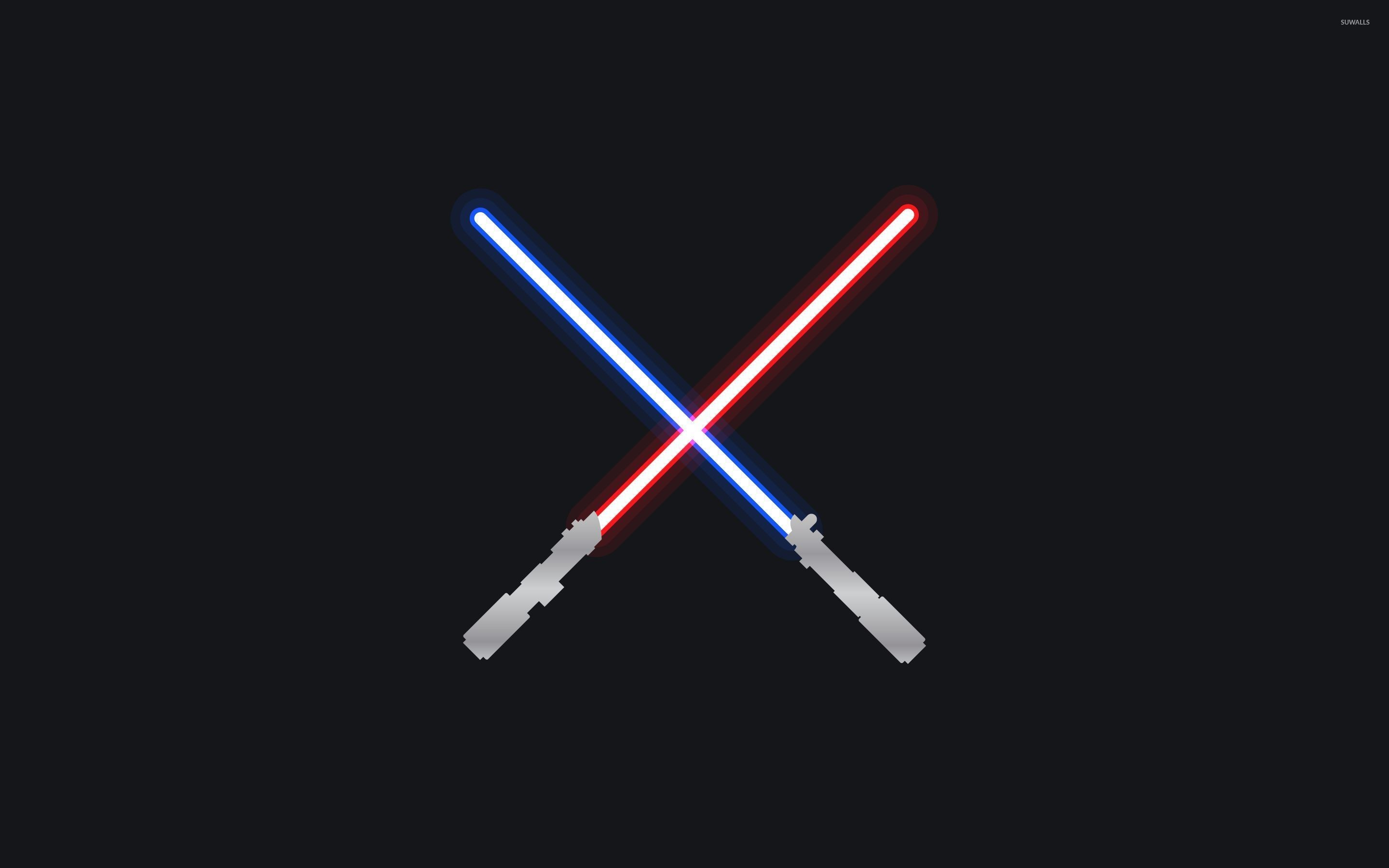 Res: 2880x1800, Jedi and Sith lightsabers wallpaper
