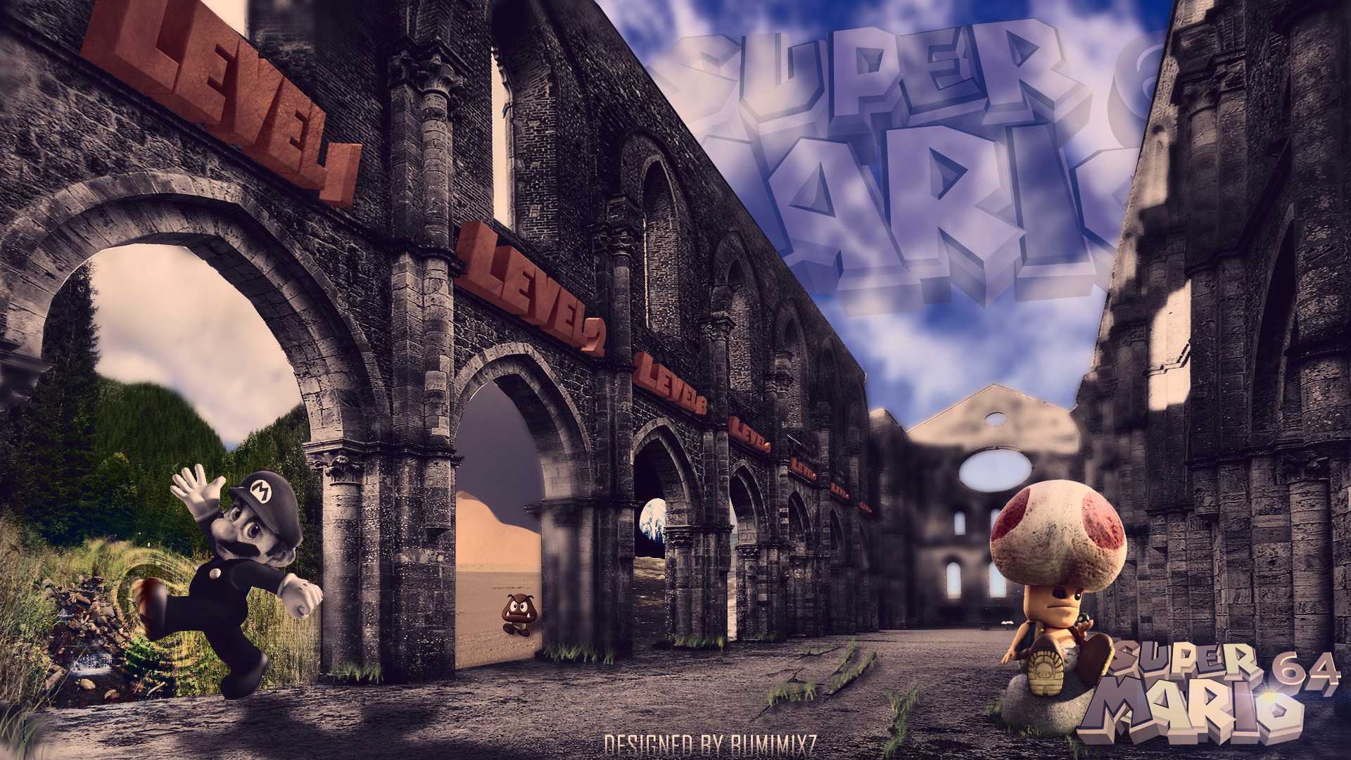 Res: 1920x1080, Super mario 64 real life by Bumipoo on DeviantArt