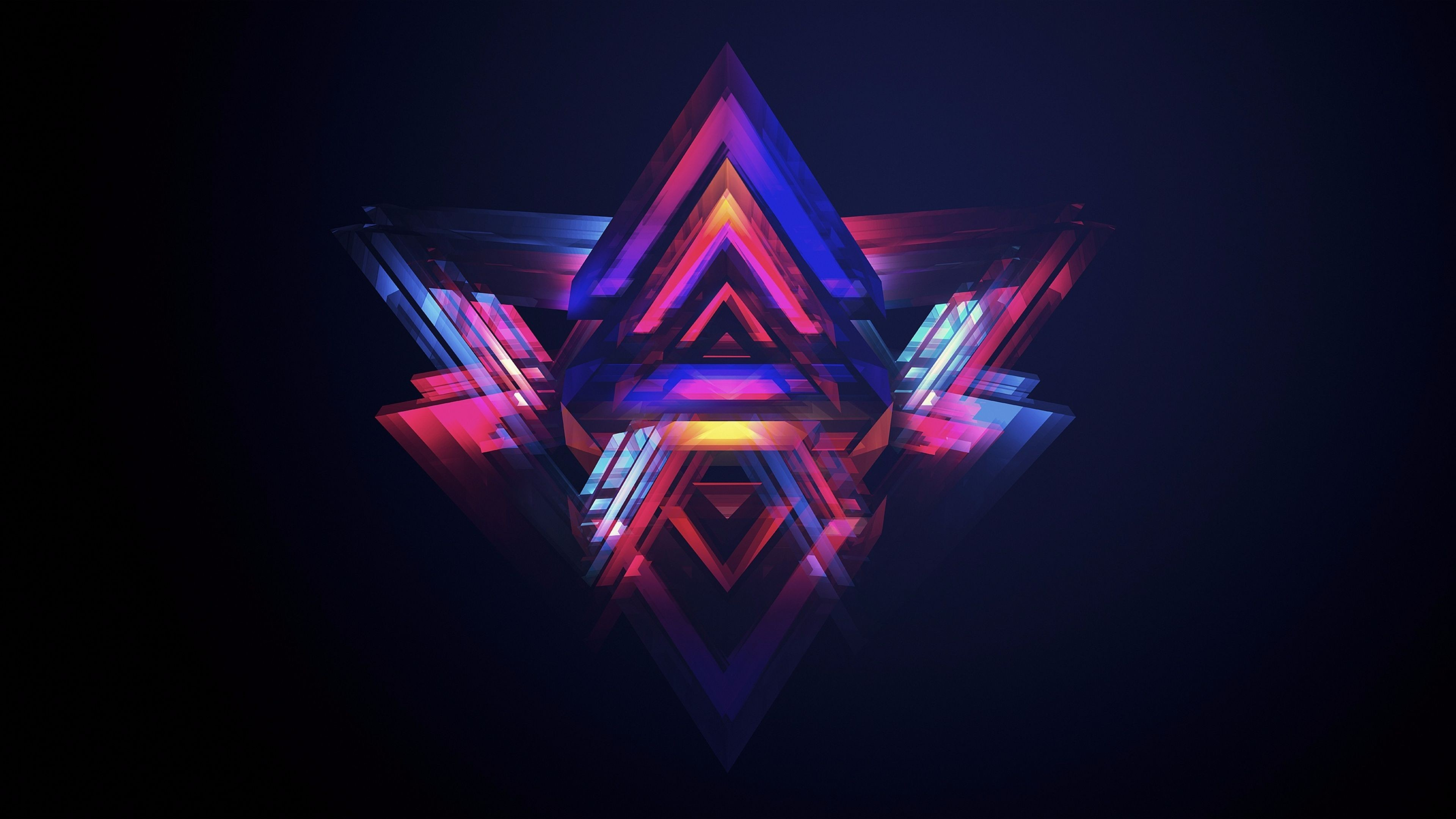 Res: 3840x2160, Colorful-Pyramid-Abstract-4K-Wallpaper.jpg (3840×2160)