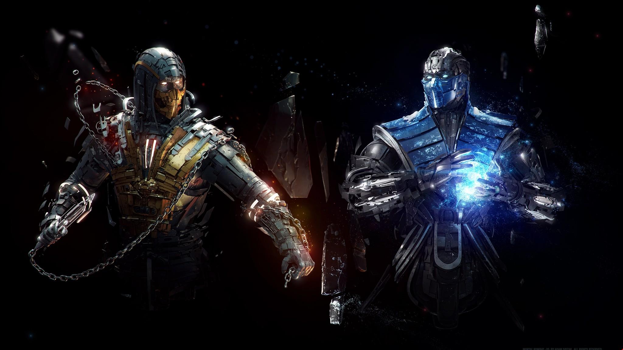Res: 2048x1152, Download 2k Sub Zero Vs Scorpion Mortal Kombat - Games Wallpapers HD
