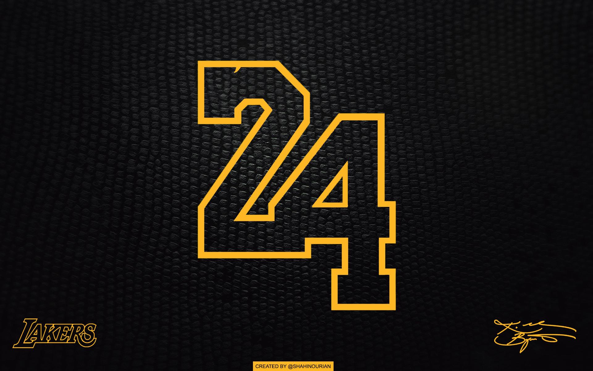 Res: 1920x1200, Lakers Kobe 24 black laptop/tablet wallpaper