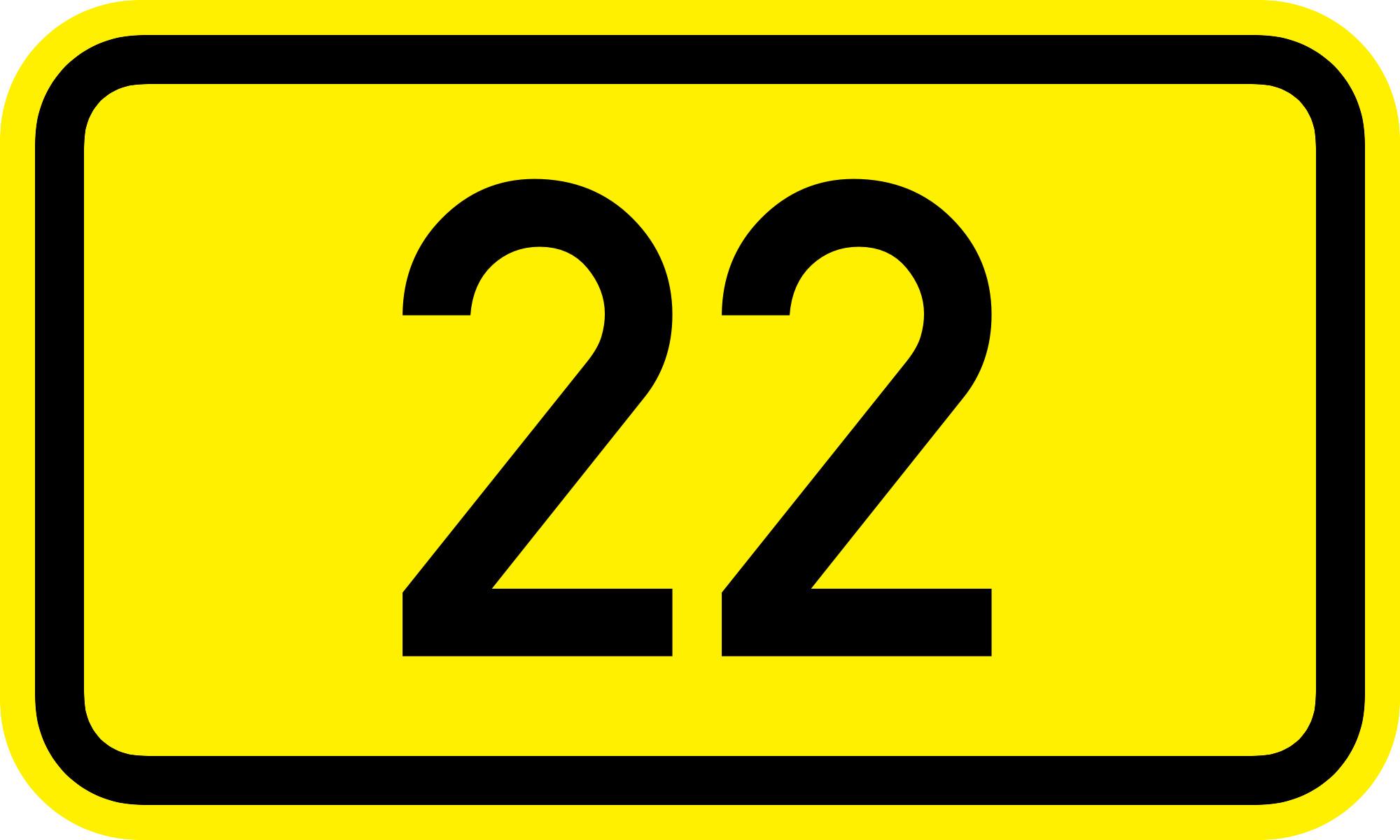 Res: 2000x1200, Bundesstrac39fe 22 de number.png