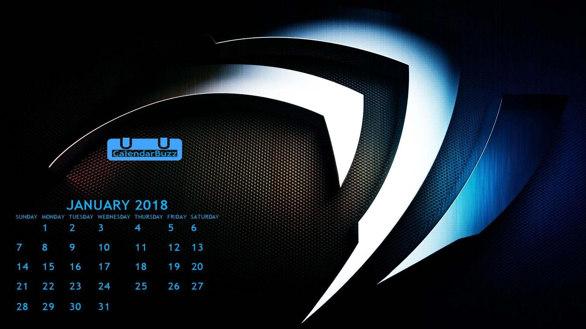 Res: 1920x1080, Download January 2018 Calendar HD Wallpaper