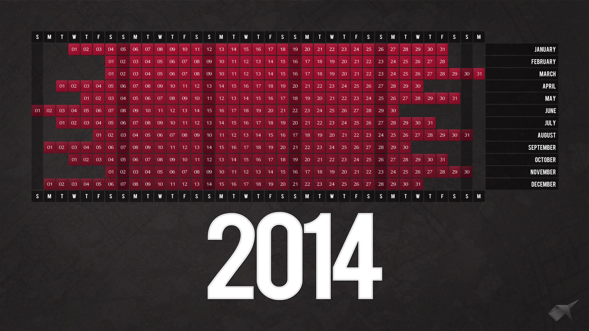 Res: 1920x1080, Calendar 2014 Desktop Wallpaper High Resolutions