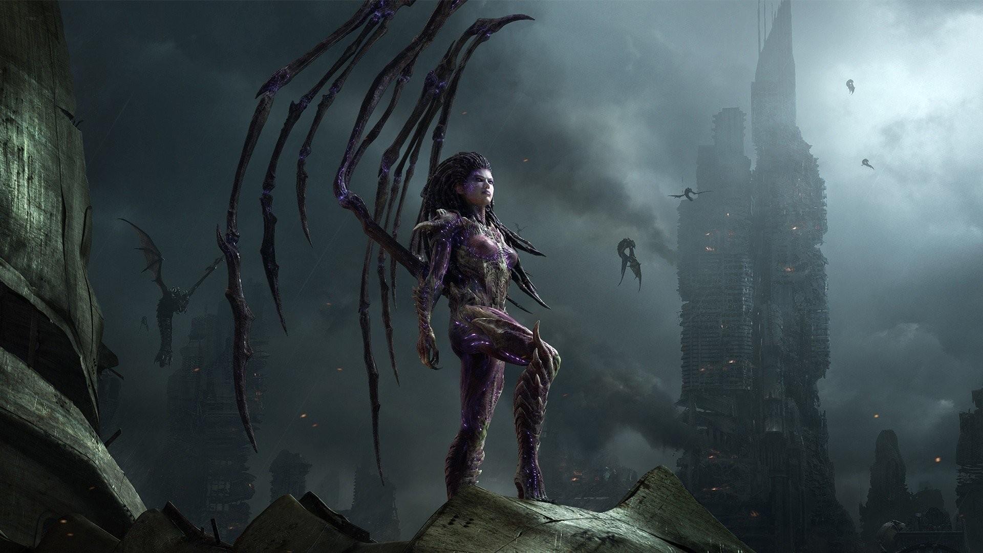 Res: 1920x1080,  Video Game - StarCraft II: Heart of the Swarm Sarah Kerrigan  Wallpaper