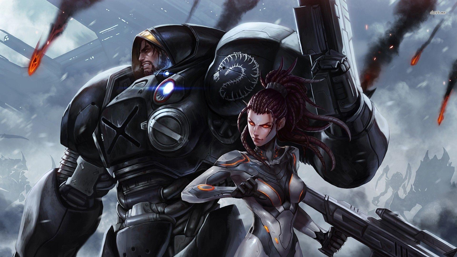 Res: 1920x1080, ... StarCraft II wallpaper  ...