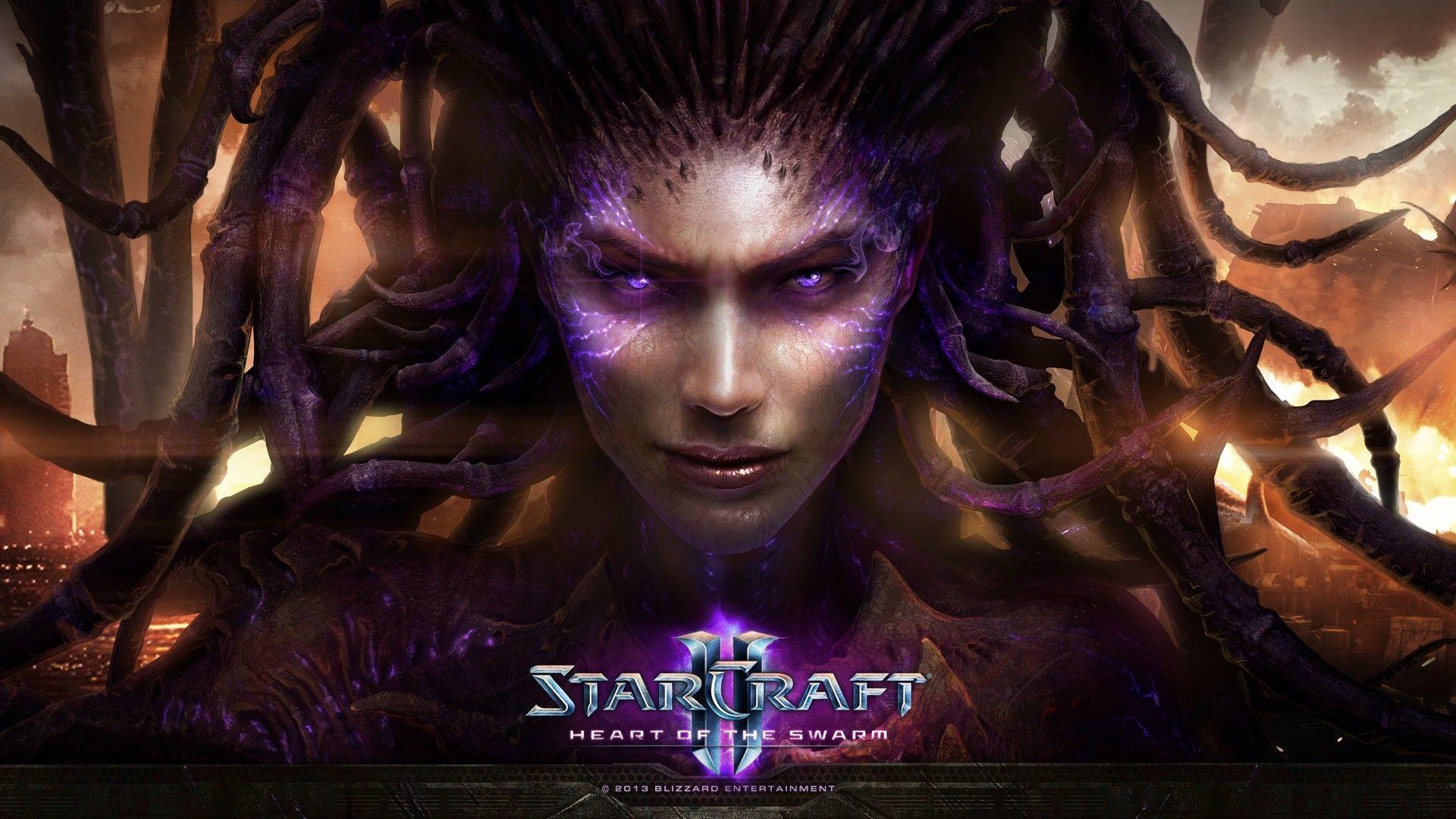 Res: 1920x1080, Sarah-Kerrigan-Queen-Of-Blades-StarCraft-Starcraft-II-Heart-of-the-Swarm- wallpaper