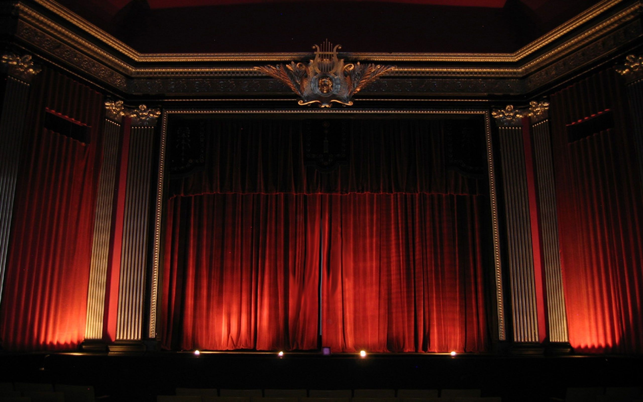 Res: 2560x1600, Free Download Theater Red Curtains Wallpaper And Photo
