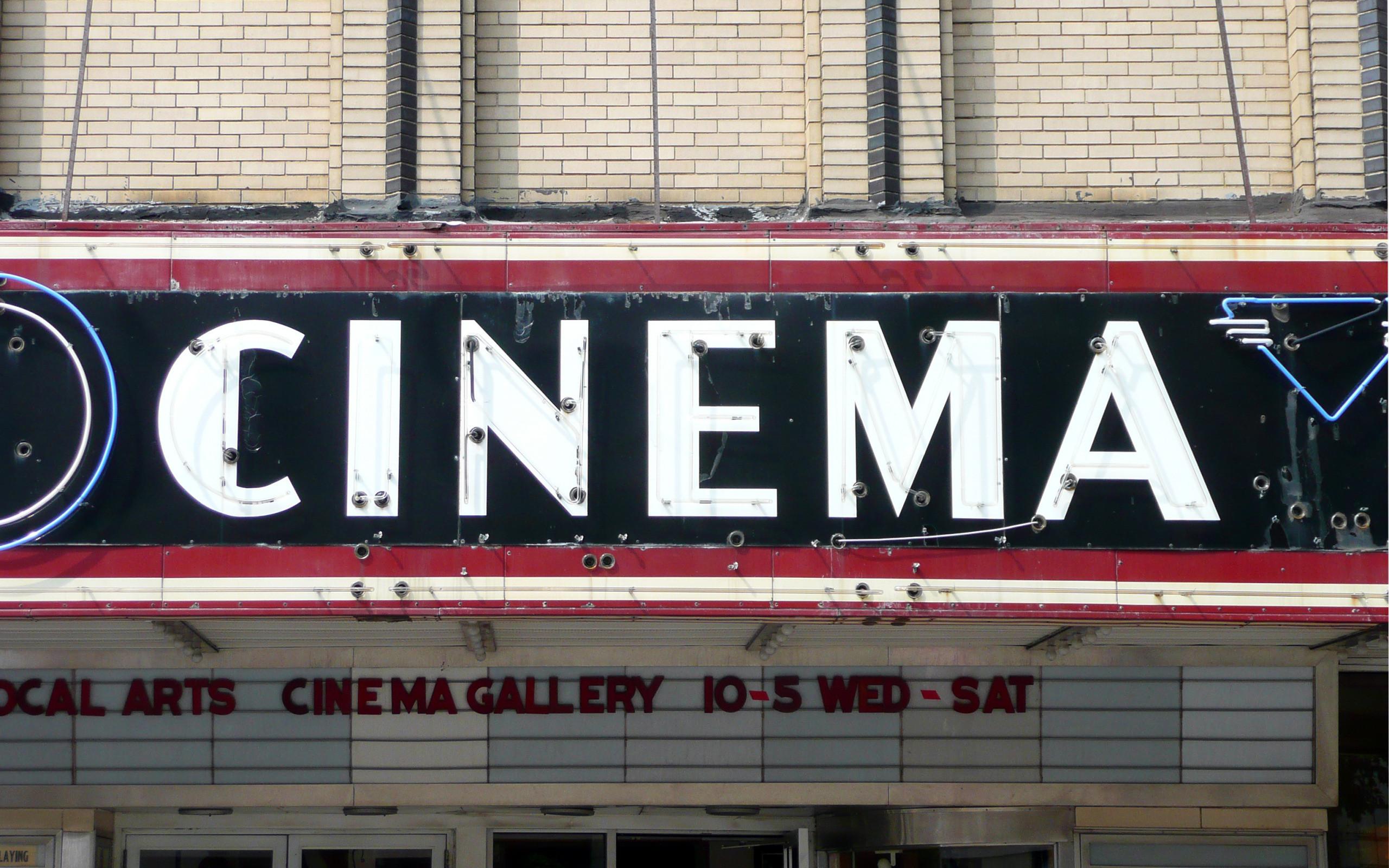 Res: 2560x1600, Vintage cinema sign Wallpaper