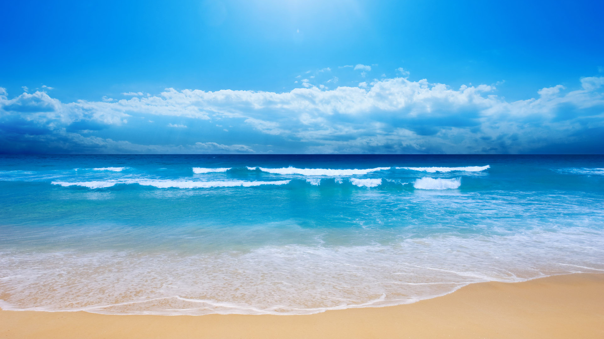 Res: 1920x1080, Small Sea Wave HDTV 1080p