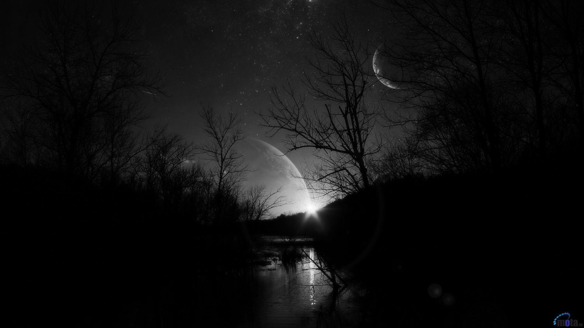 Res: 1920x1080, Download Wallpaper Starry sky dark at night (1920 x 1080 HDTV .