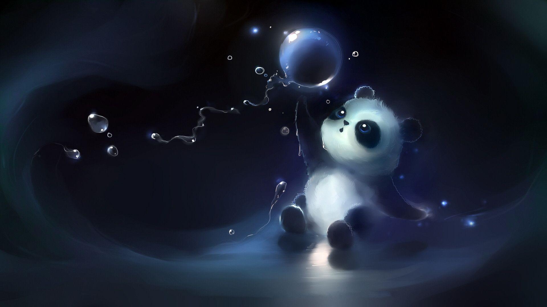 Res: 1920x1080, Animated Cute Panda Wallpaper