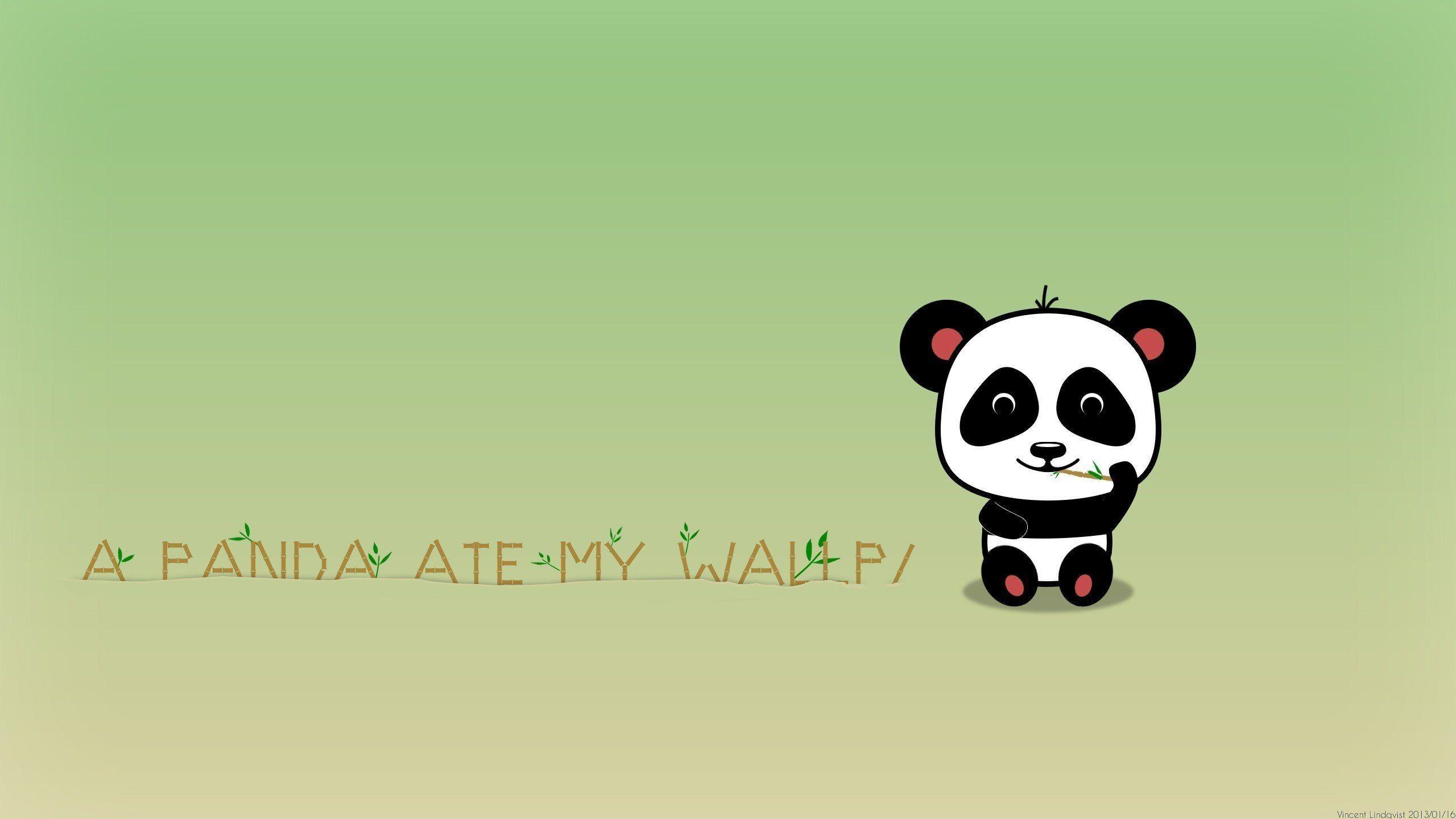 Res: 2560x1440,  Wallpapers For > Cute Cartoon Panda Wallpaper