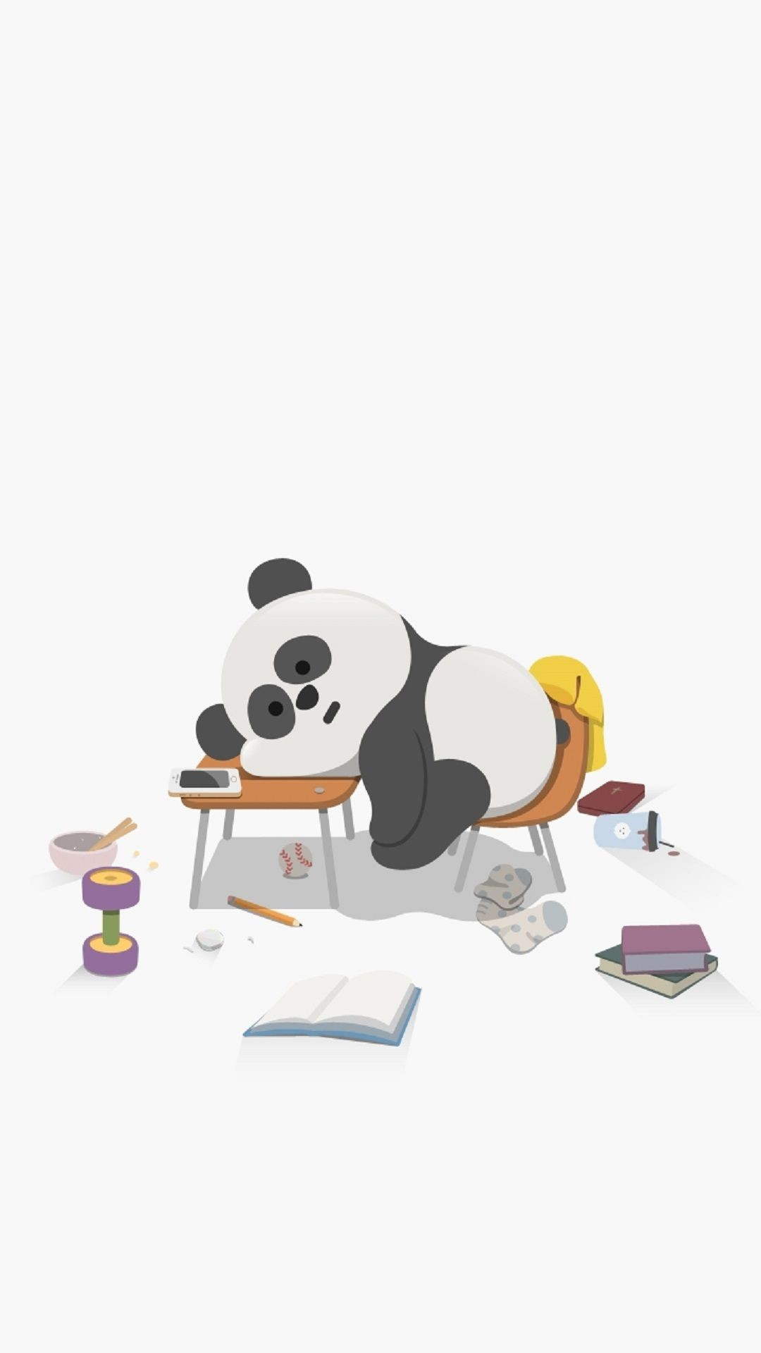 Res: 1080x1920, Cute Sleepy Panda. Cute Animal iPhone wallpapers. Tap to see more high  quality iphone wallpapers, backgrounds, fondos! - @mobile9