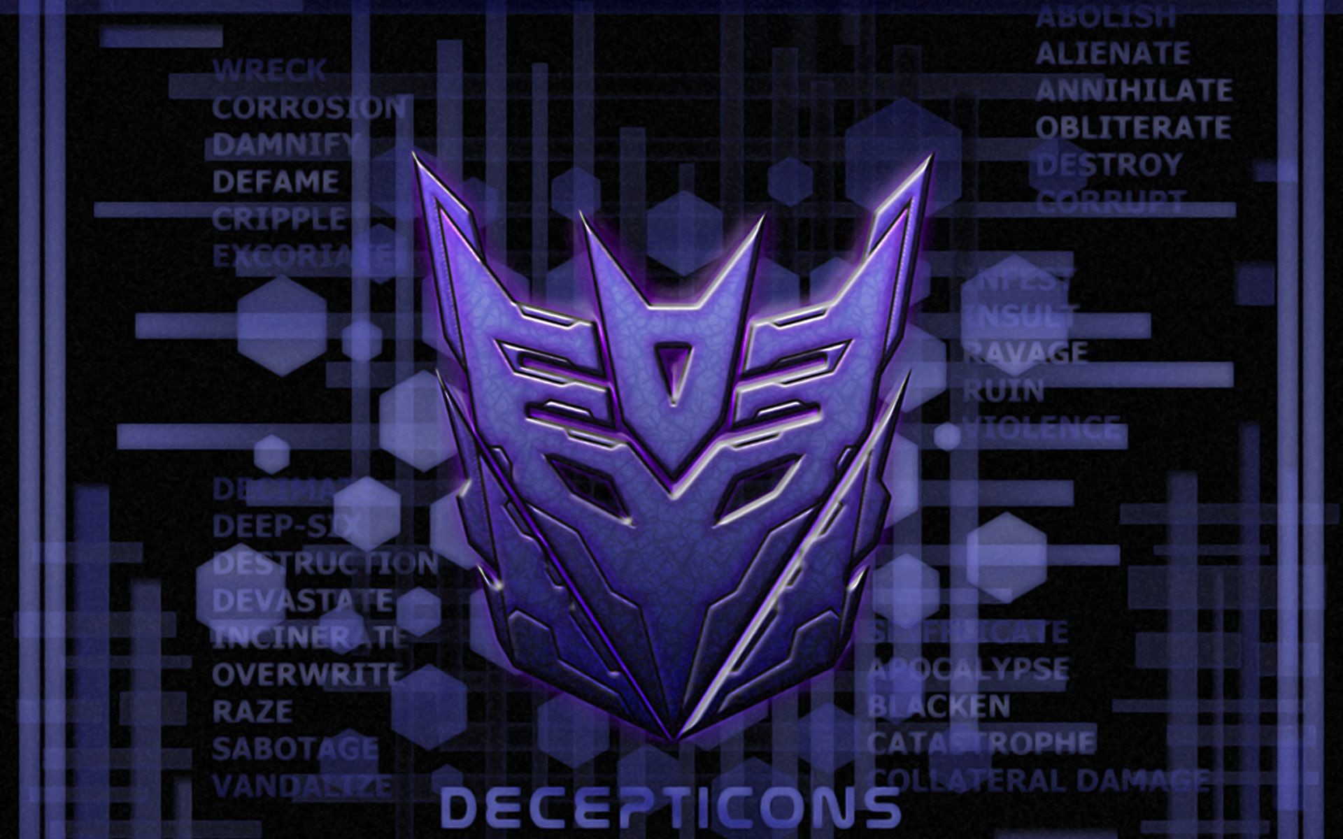 Res: 1920x1200, wallpapers and screensavers of transformers | Transformers Decepticons Logo  On Purple Wallpaper