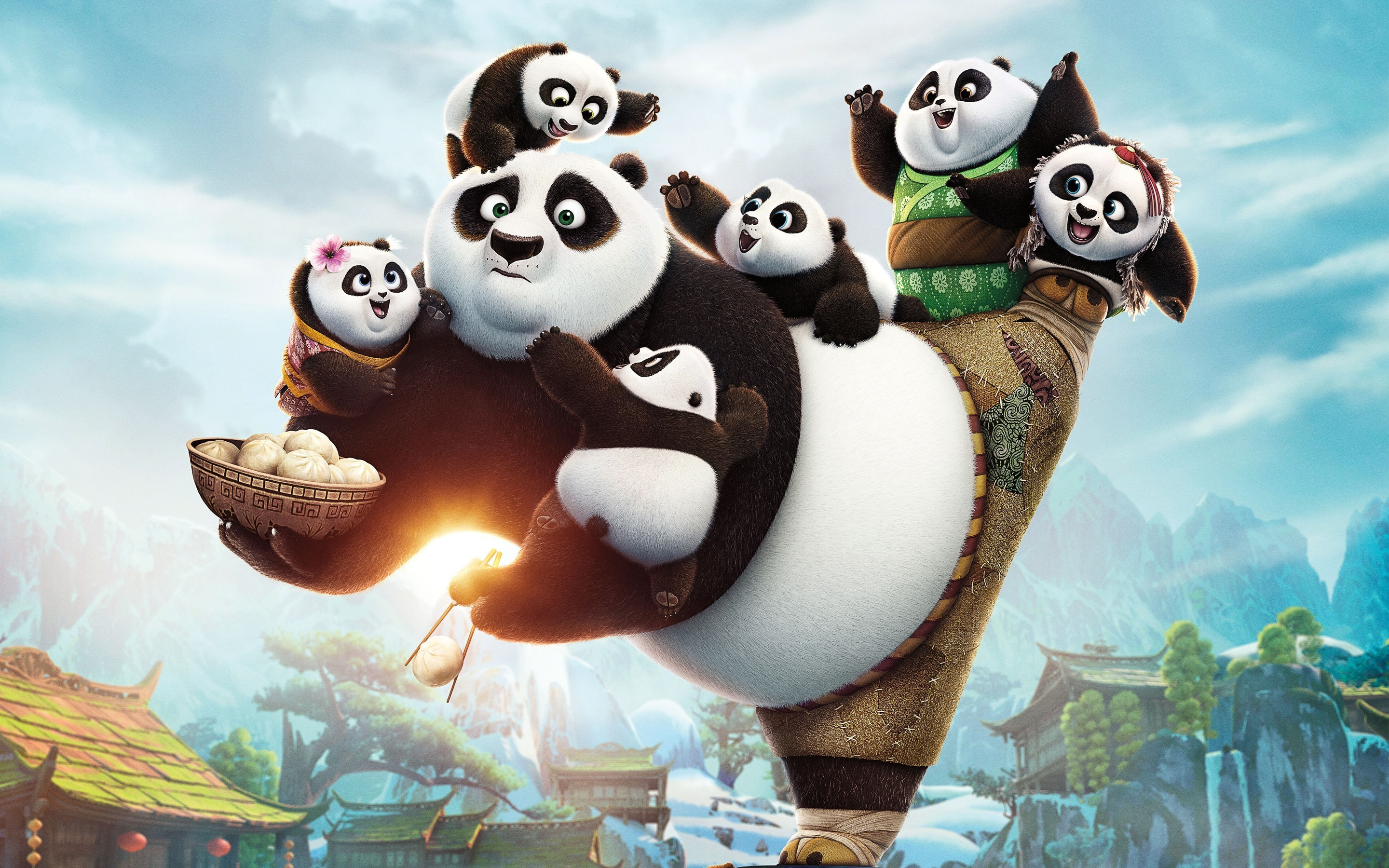 Res: 2880x1800, kung Fu Panda 3, Movies, Artwork Wallpapers HD / Desktop and Mobile  Backgrounds
