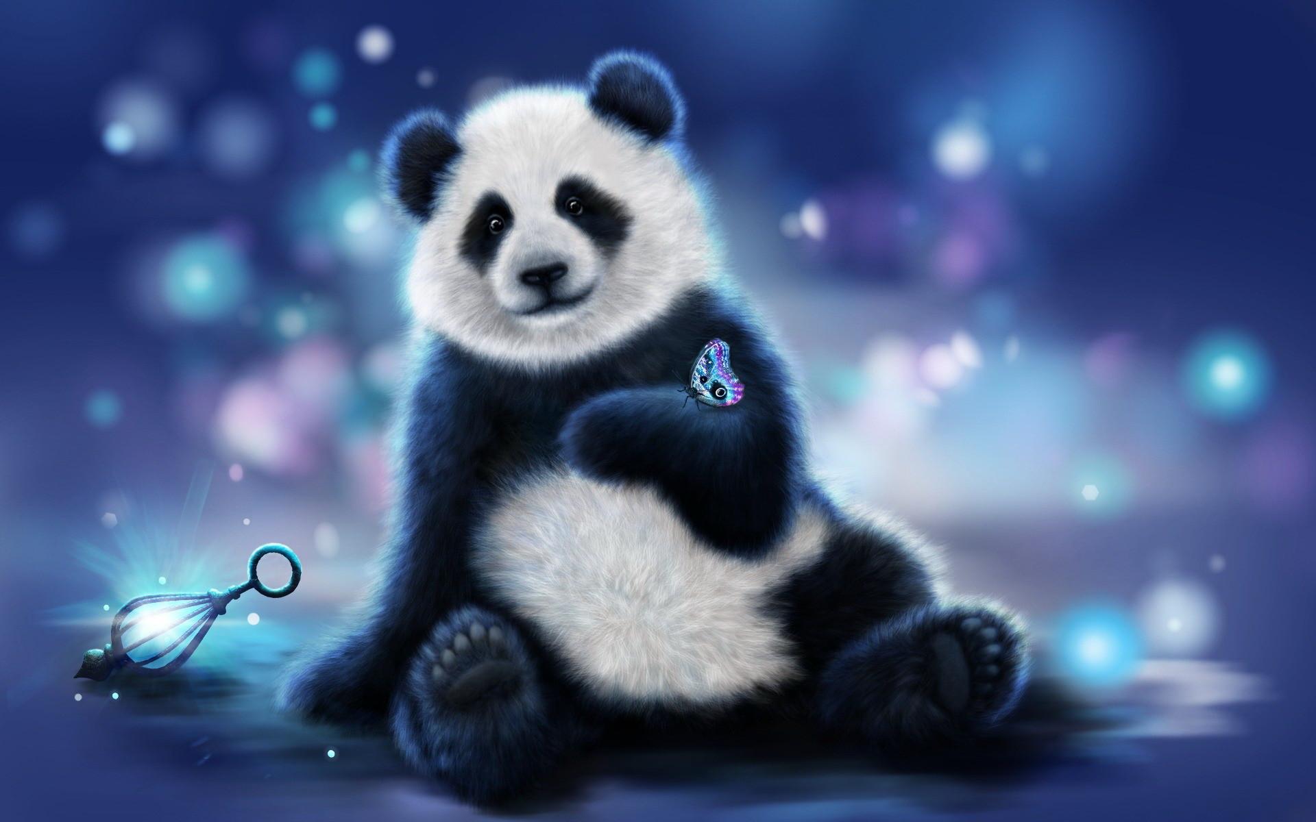 Res: 1920x1200, Download Blue Panda Wallpaper Gallery