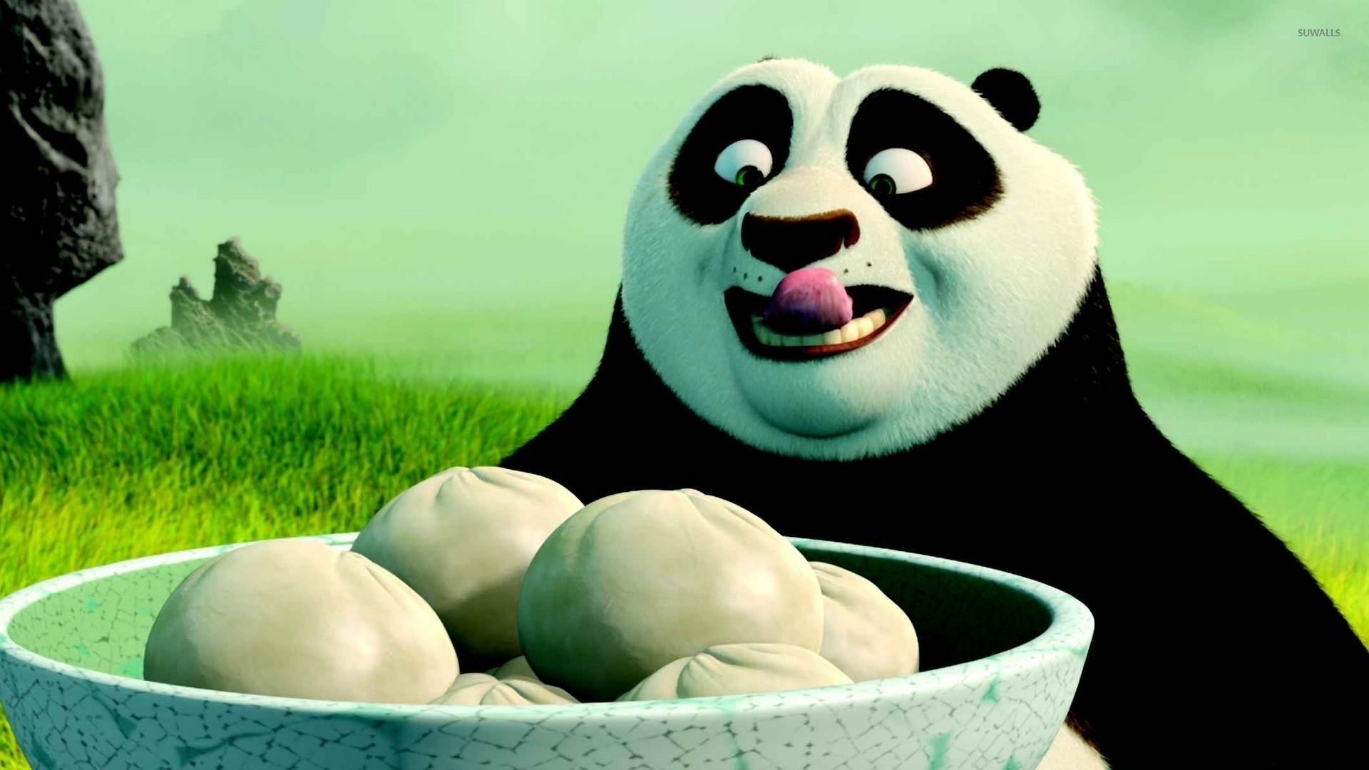 Res: 1920x1080, Po having dumplings - Kung Fu Panda wallpaper