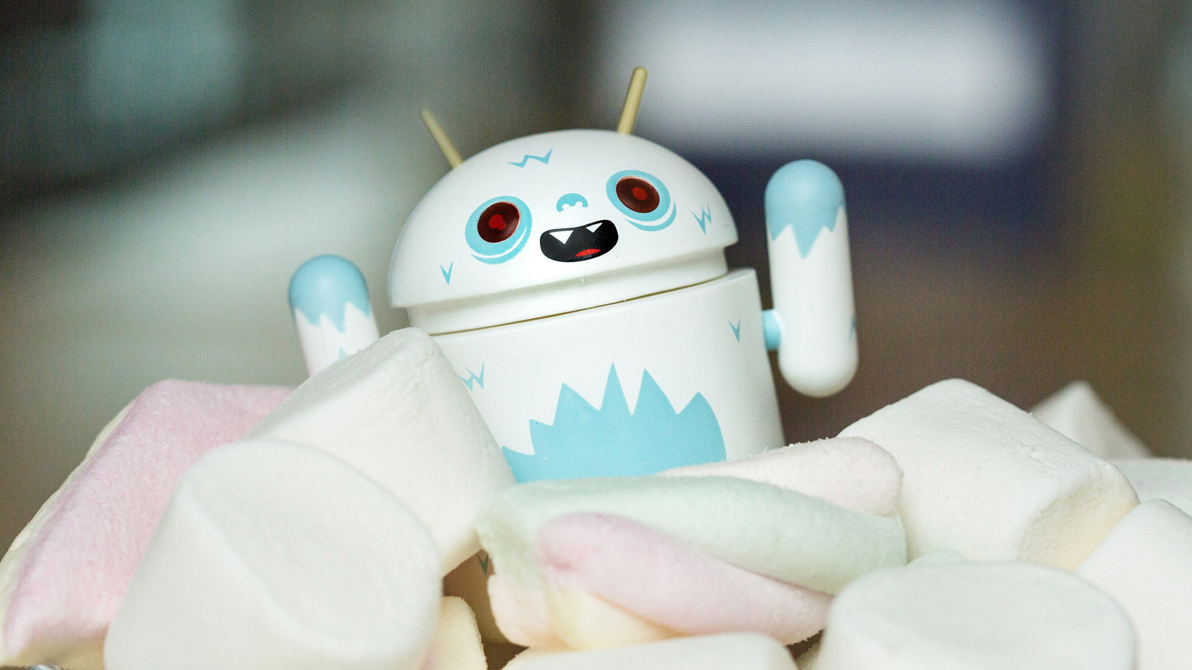 Res: 3840x2160, ... Attachment for 37 Cute Stuff Wallpapers - Android Marshmallow White  Robot in 4K